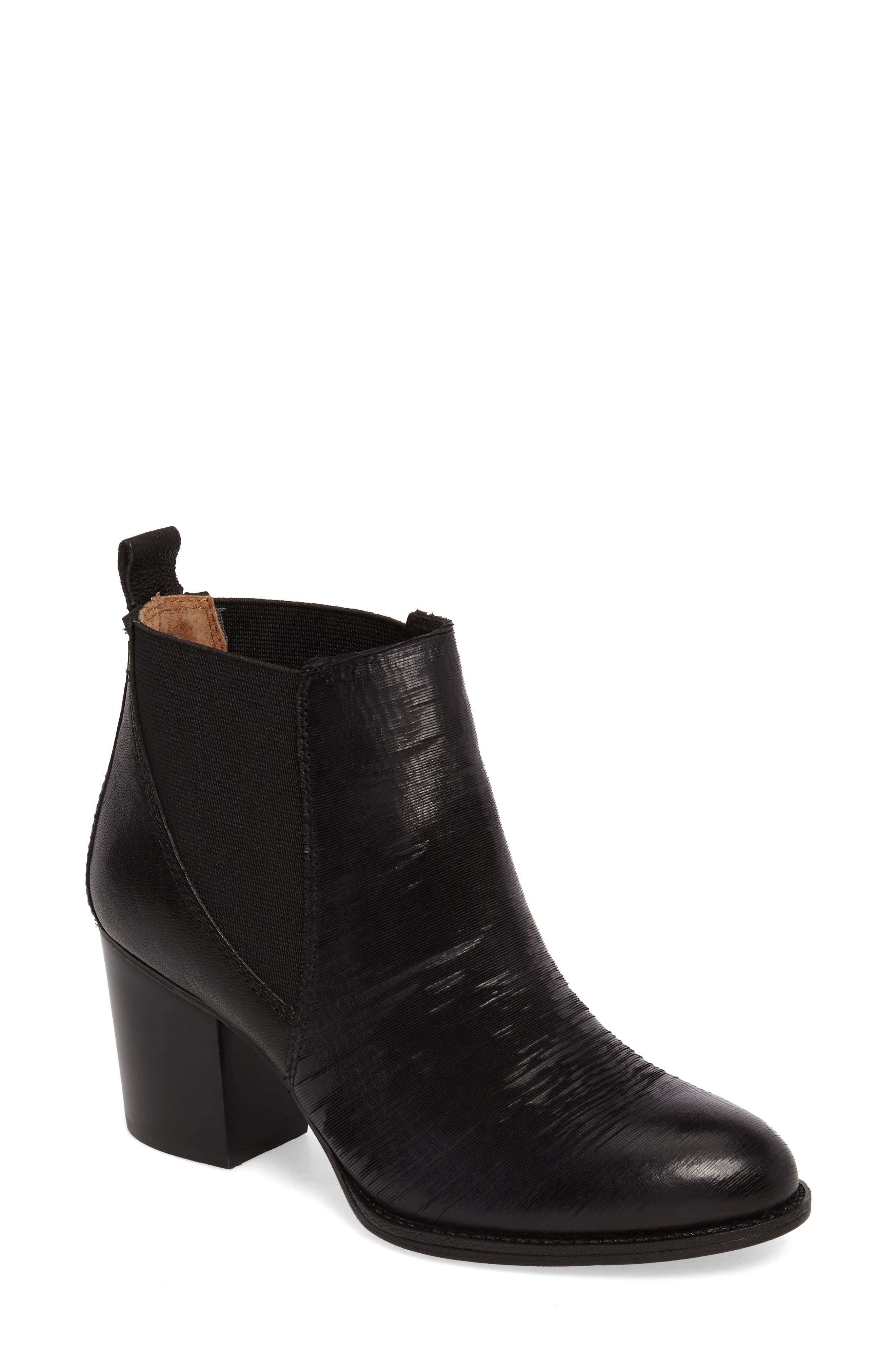 Welling Bootie,                         Main,                         color, Black Leather