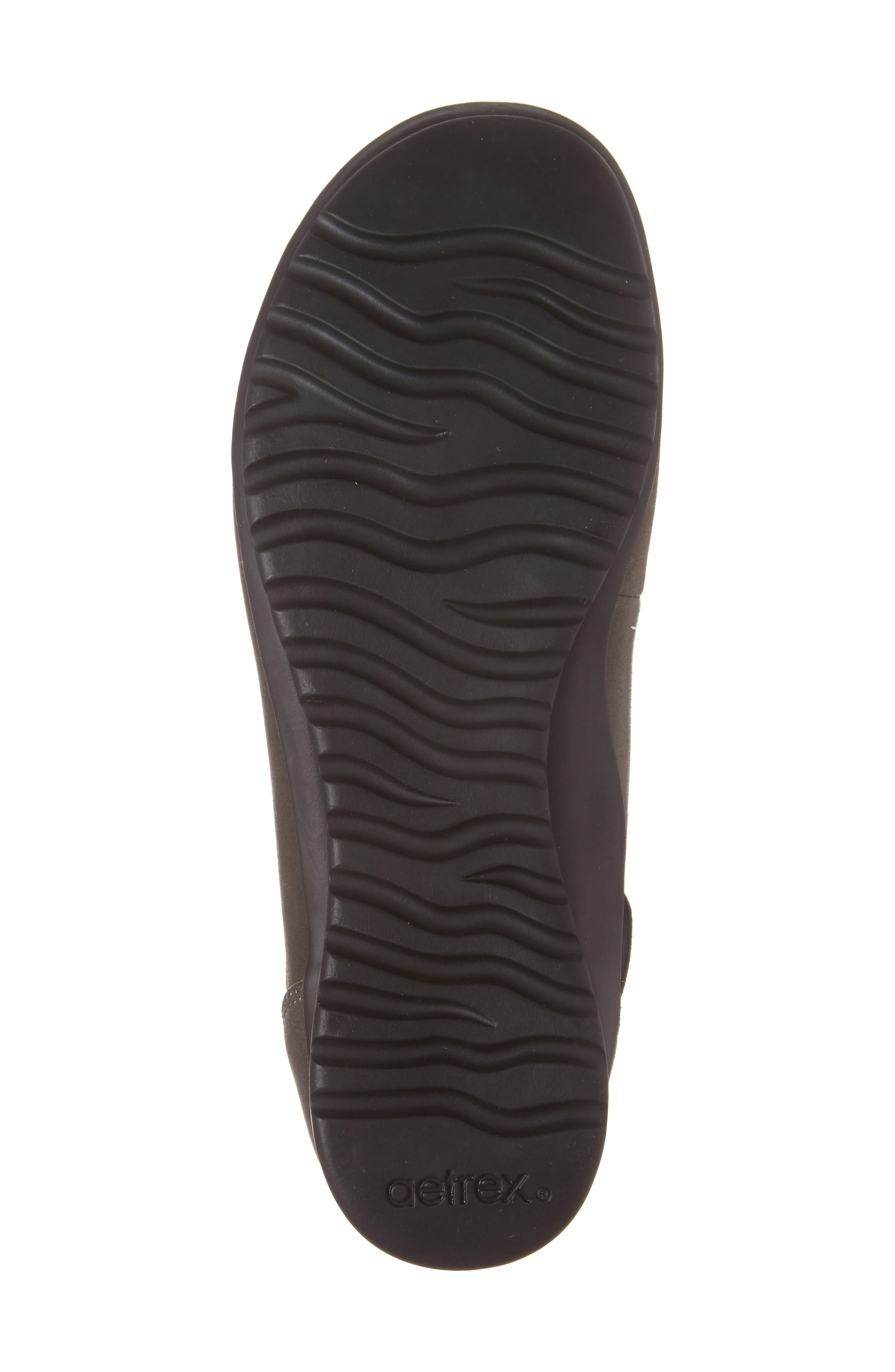 'Dakota' Ankle Strap Ballet Flat,                             Alternate thumbnail 6, color,                             Iron Leather