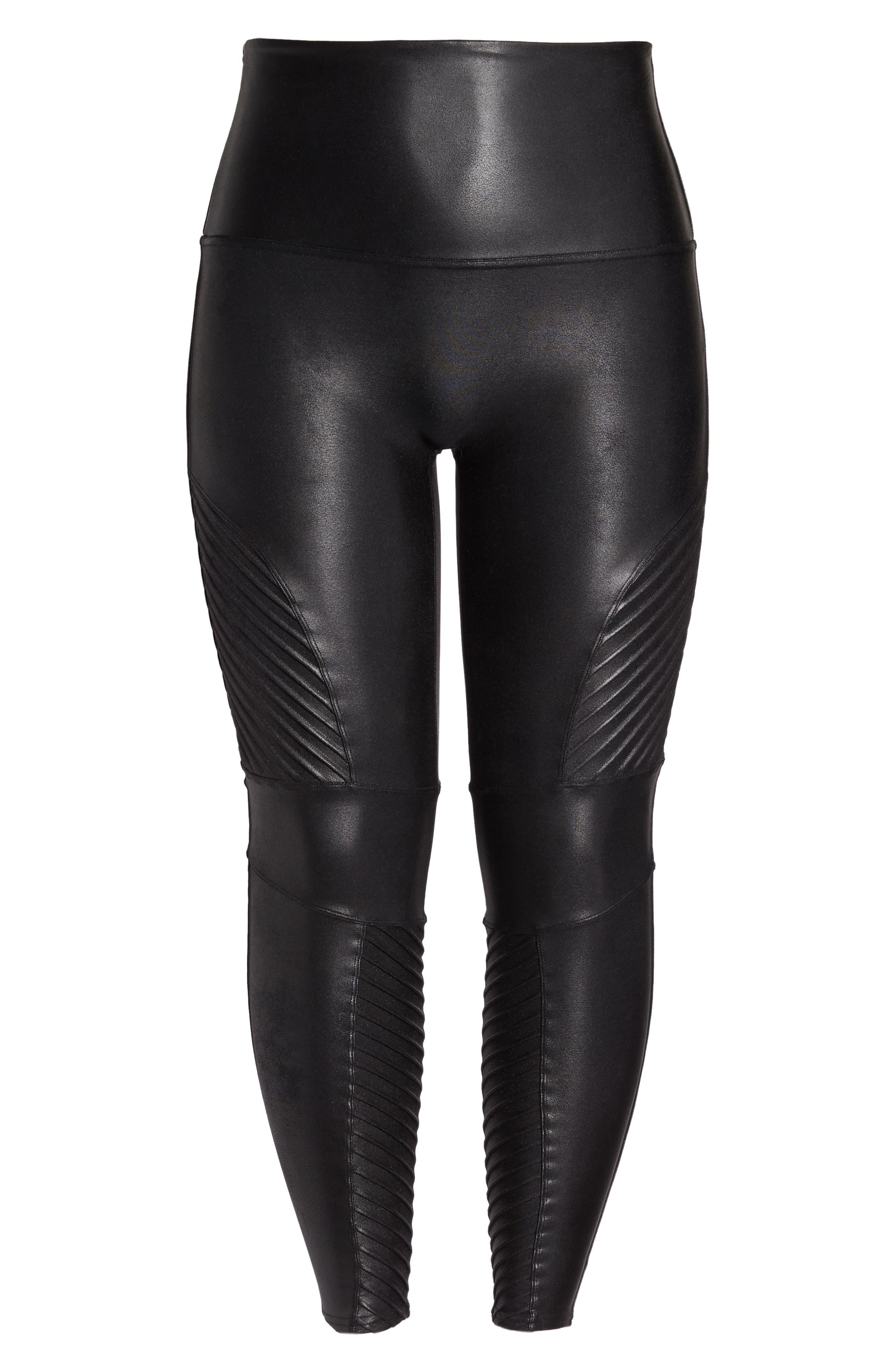 Alternate Image 4  - SPANX® High Waist Moto Leggings (Plus Size)