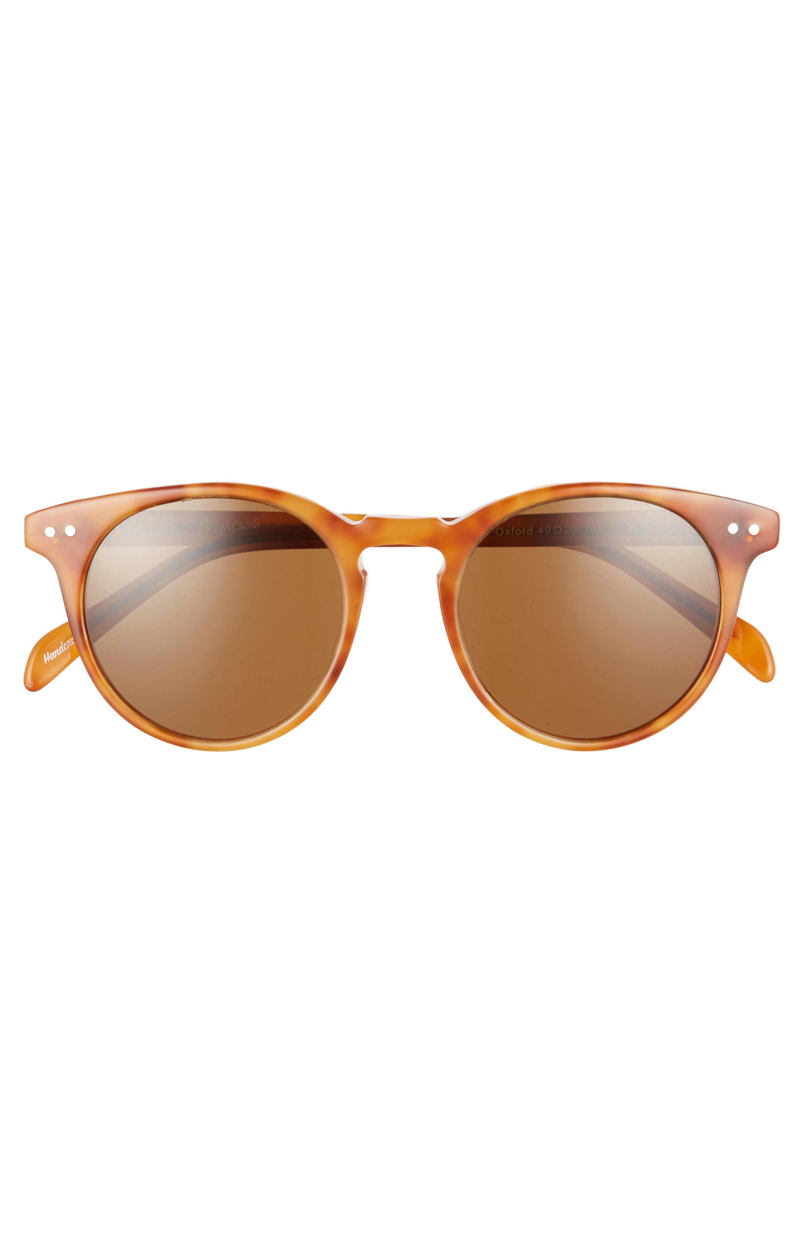 Oxford 49mm Sunglasses,                             Alternate thumbnail 3, color,                             Light Brown/ Brown