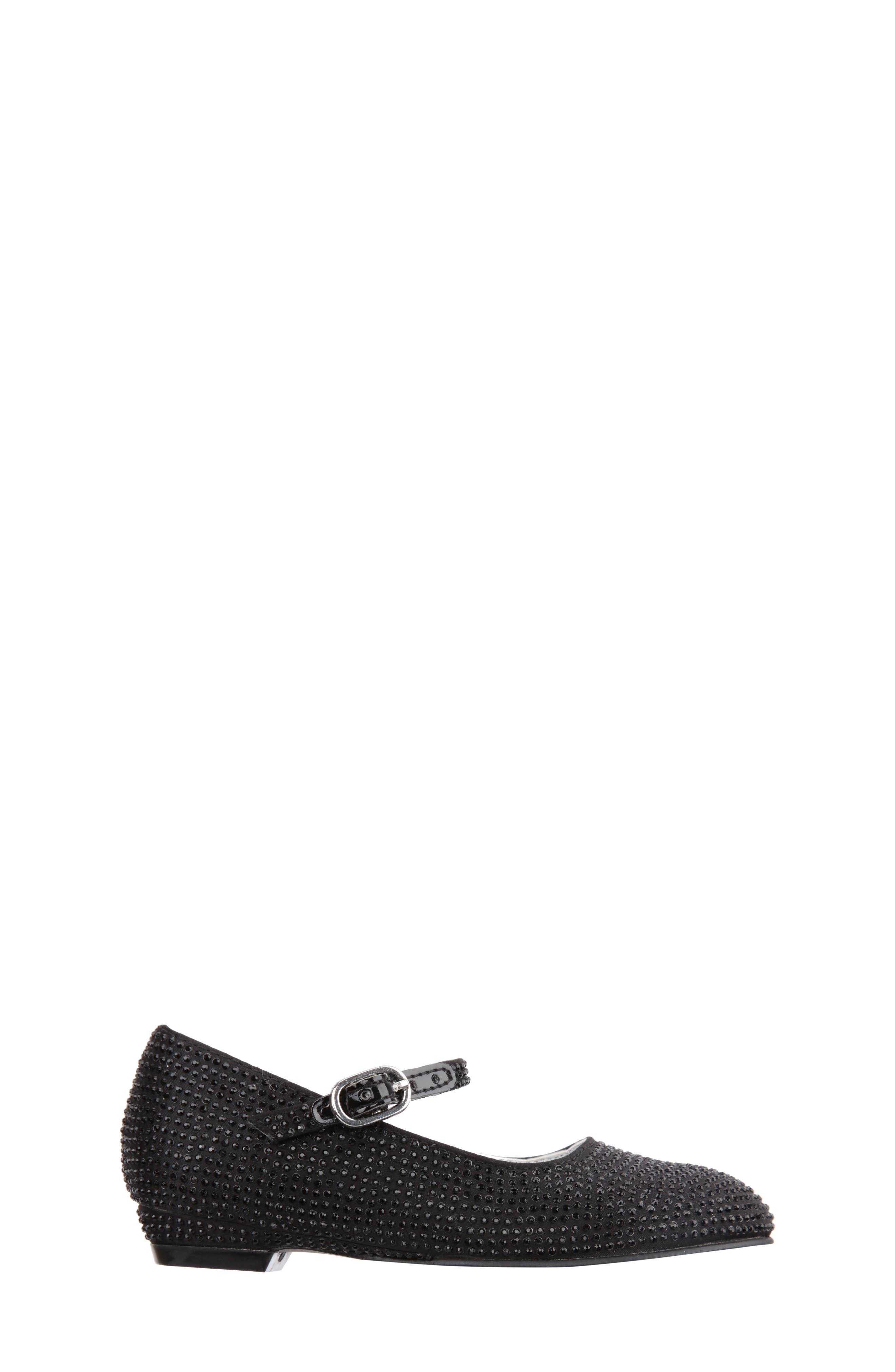 'Zelia' Mary Jane,                             Alternate thumbnail 3, color,                             Black Satin Stud