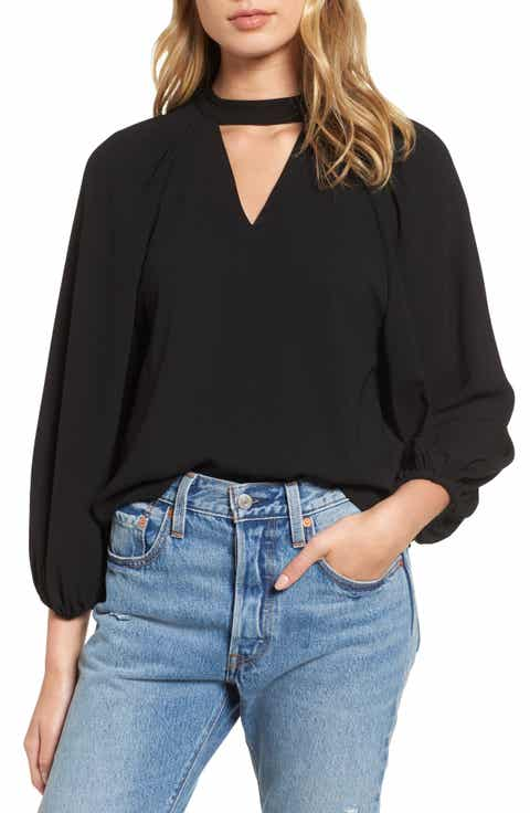 Leith Balloon Sleeve Choker Top