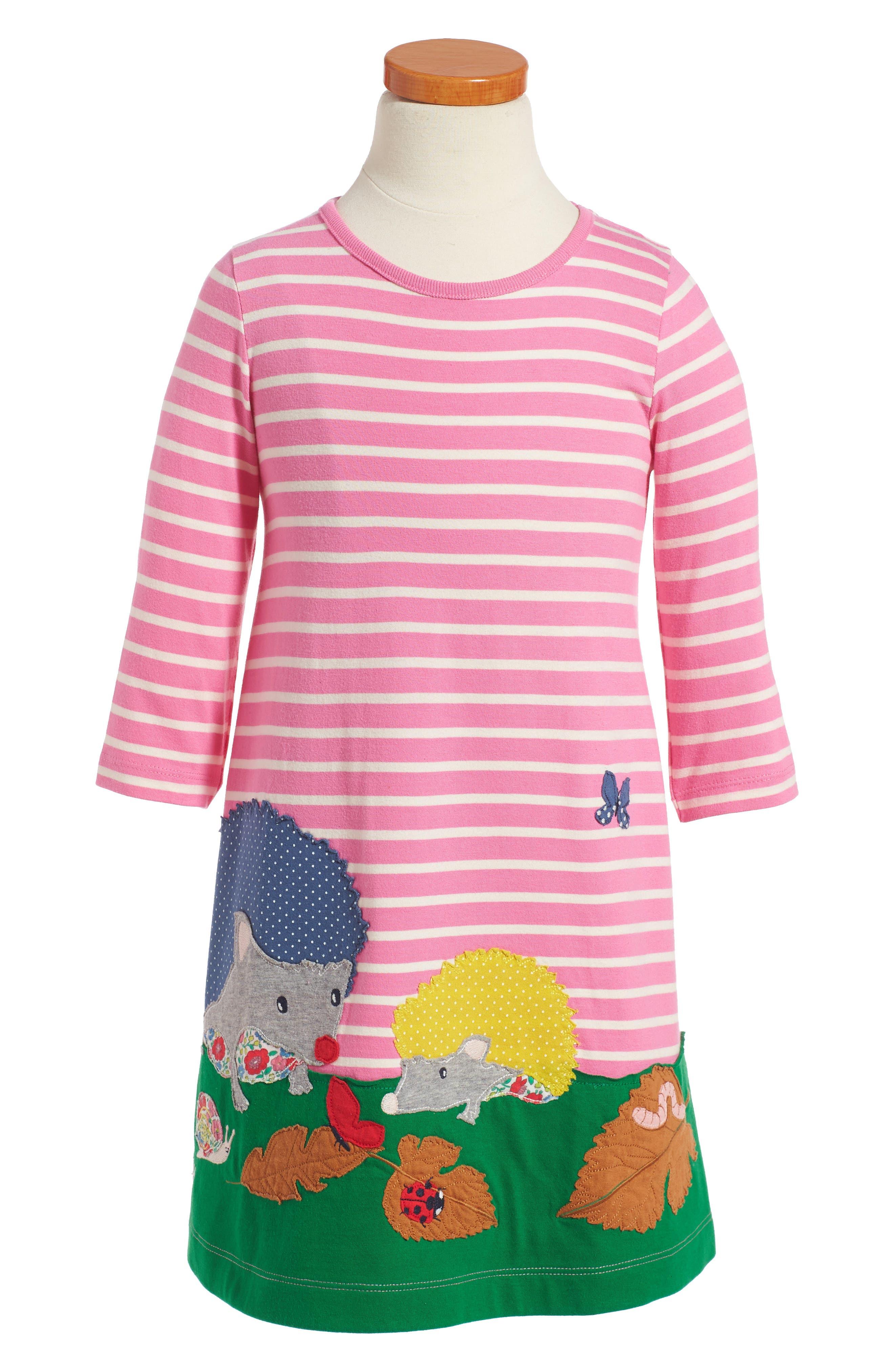 Main Image - Mini Boden Woodland Friends Dress (Toddler Girls, Little Girls & Big Girls)