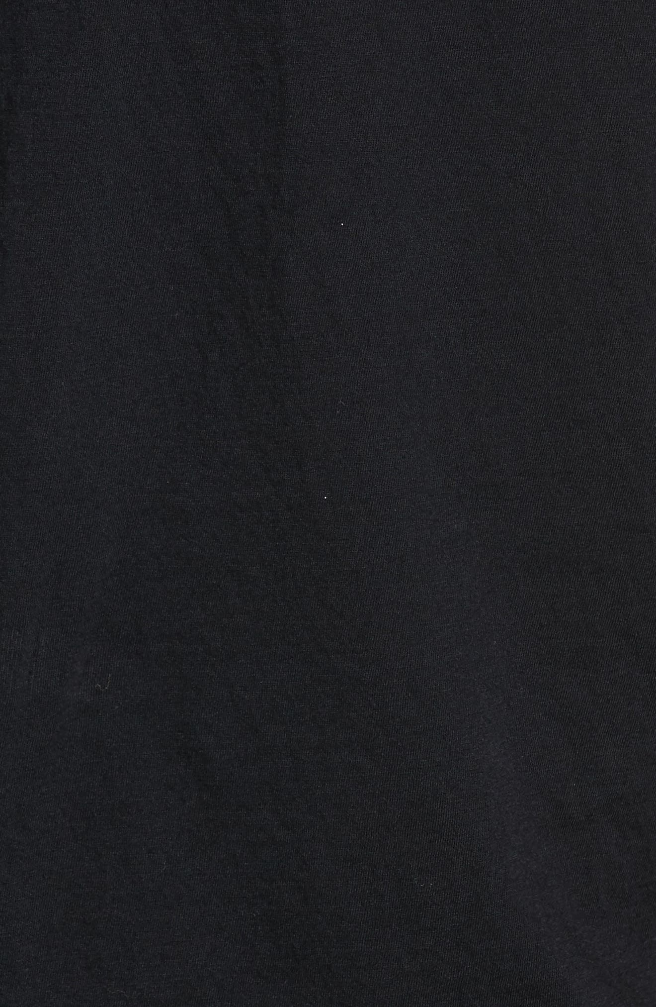 Fae Ruffle Tank,                             Alternate thumbnail 5, color,                             True Black