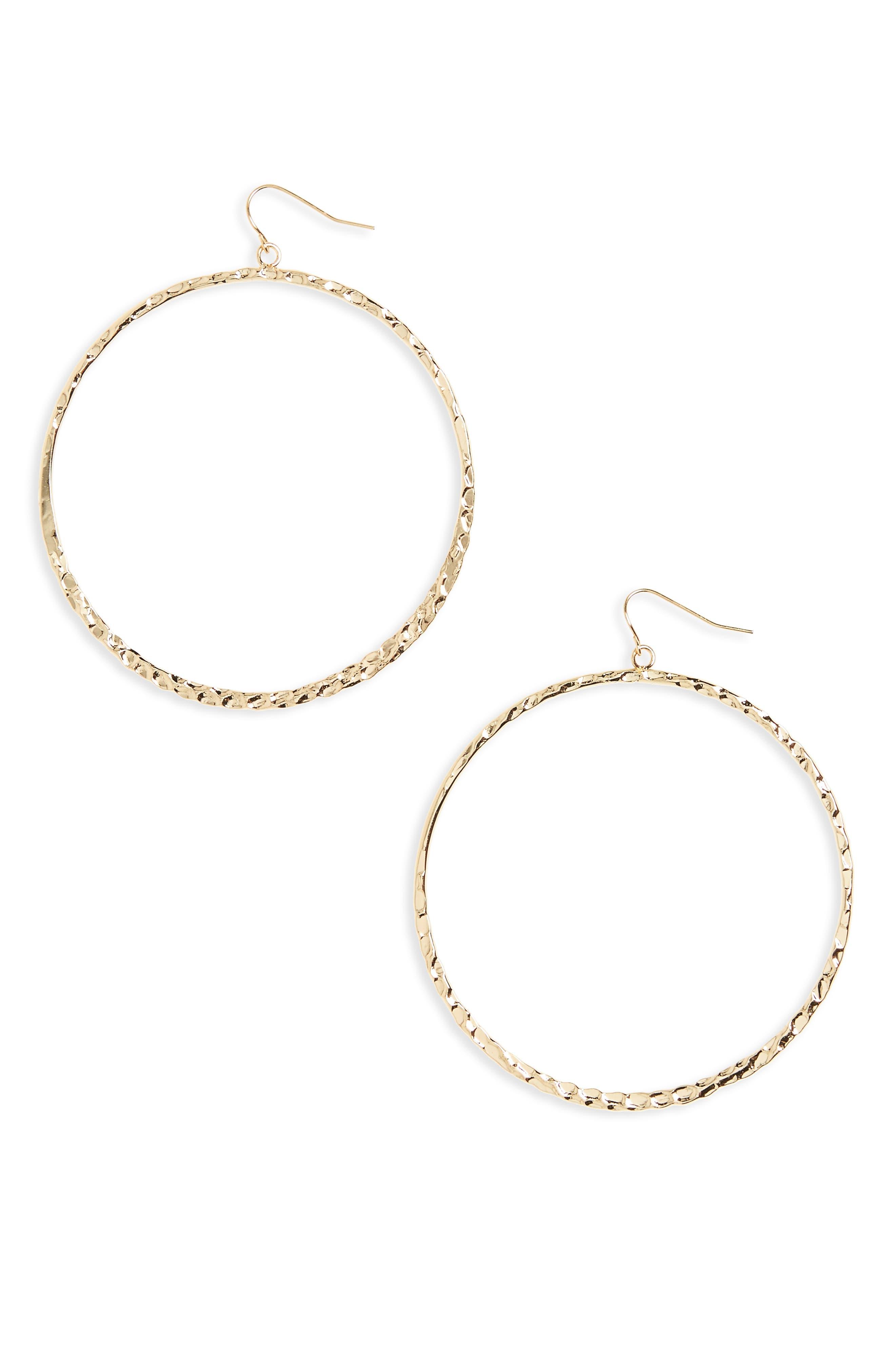 BP. Oversize Textured Hoop Earrings