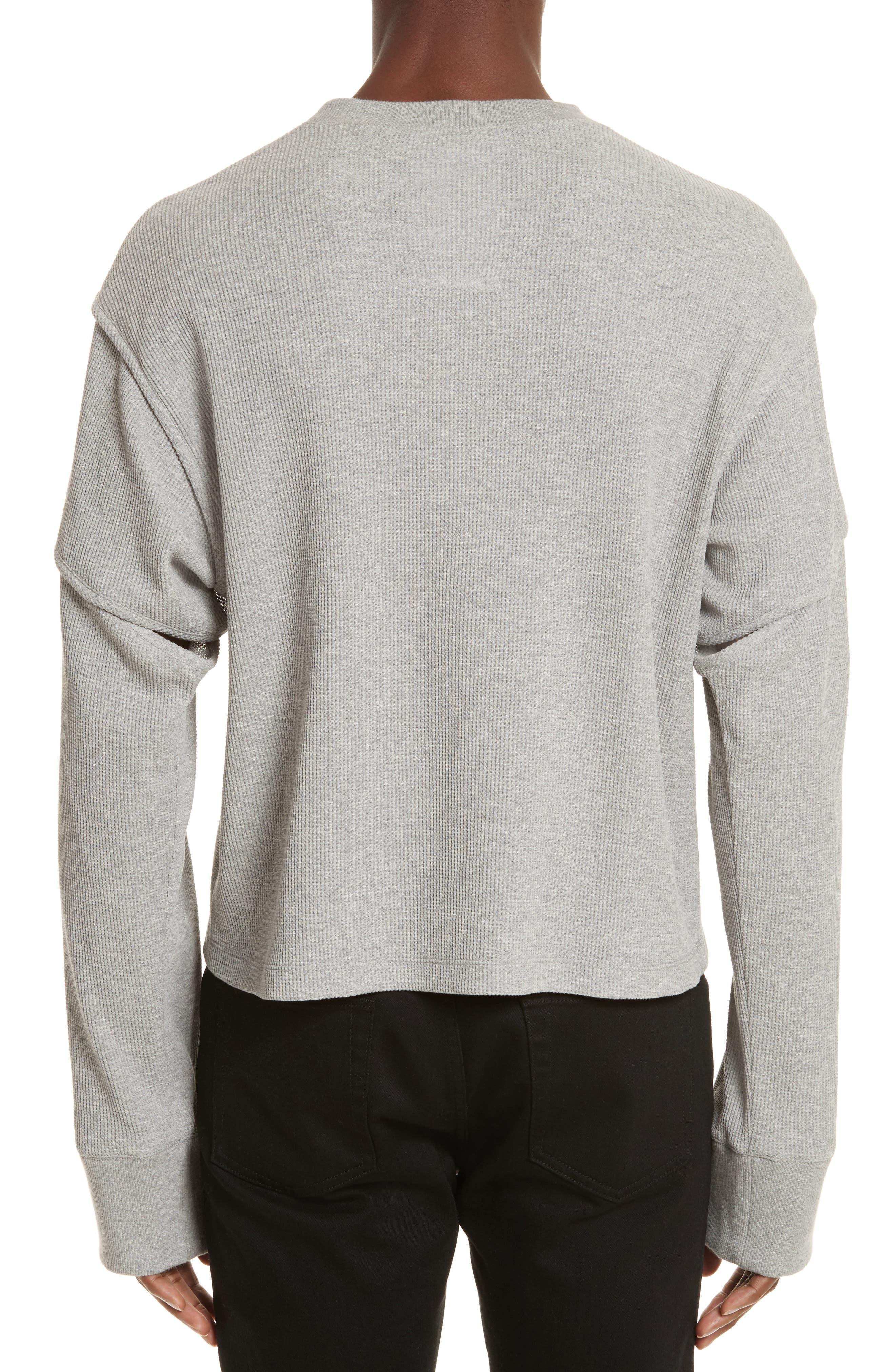 Military Panel Sleeve Thermal Shirt,                             Alternate thumbnail 2, color,                             Grey Melange