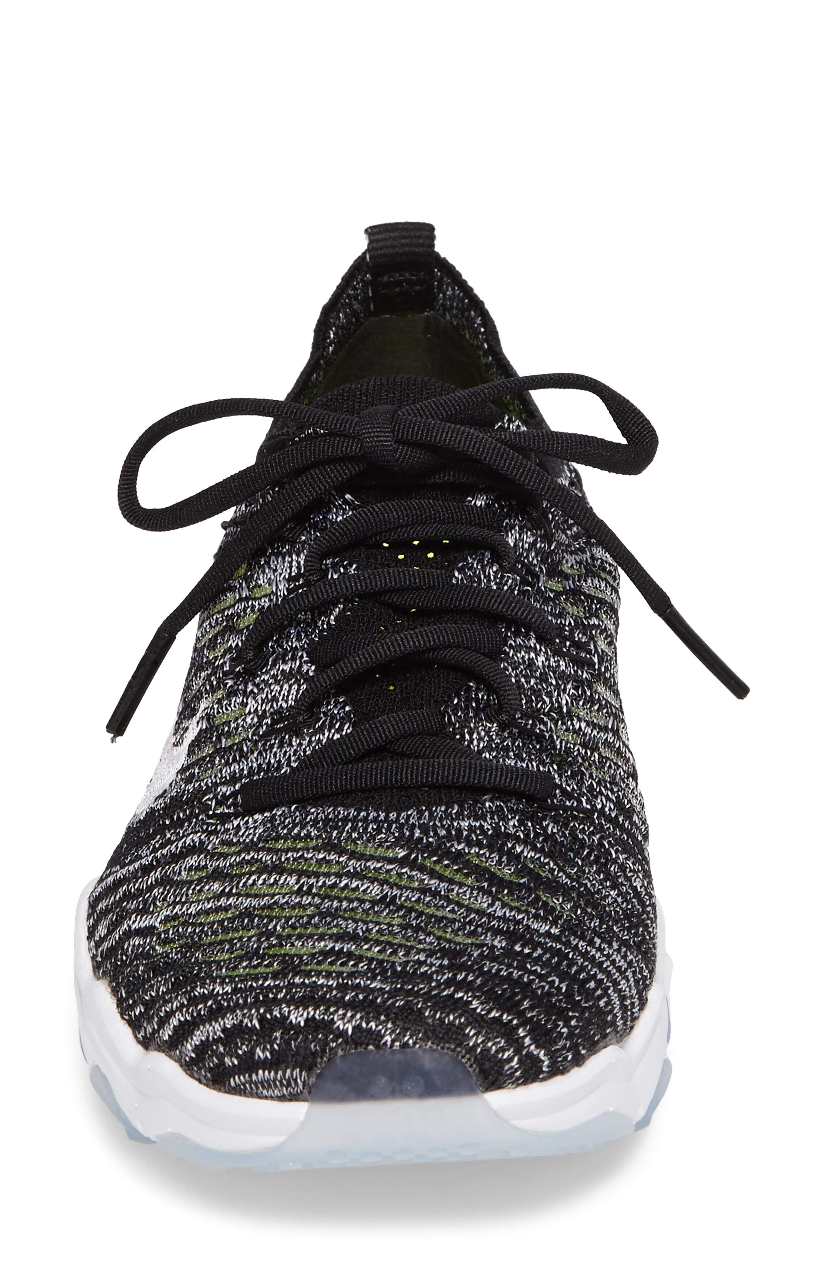 Air Zoom Fearless Flyknit Training Shoe,                             Alternate thumbnail 4, color,                             Black/ White/ White