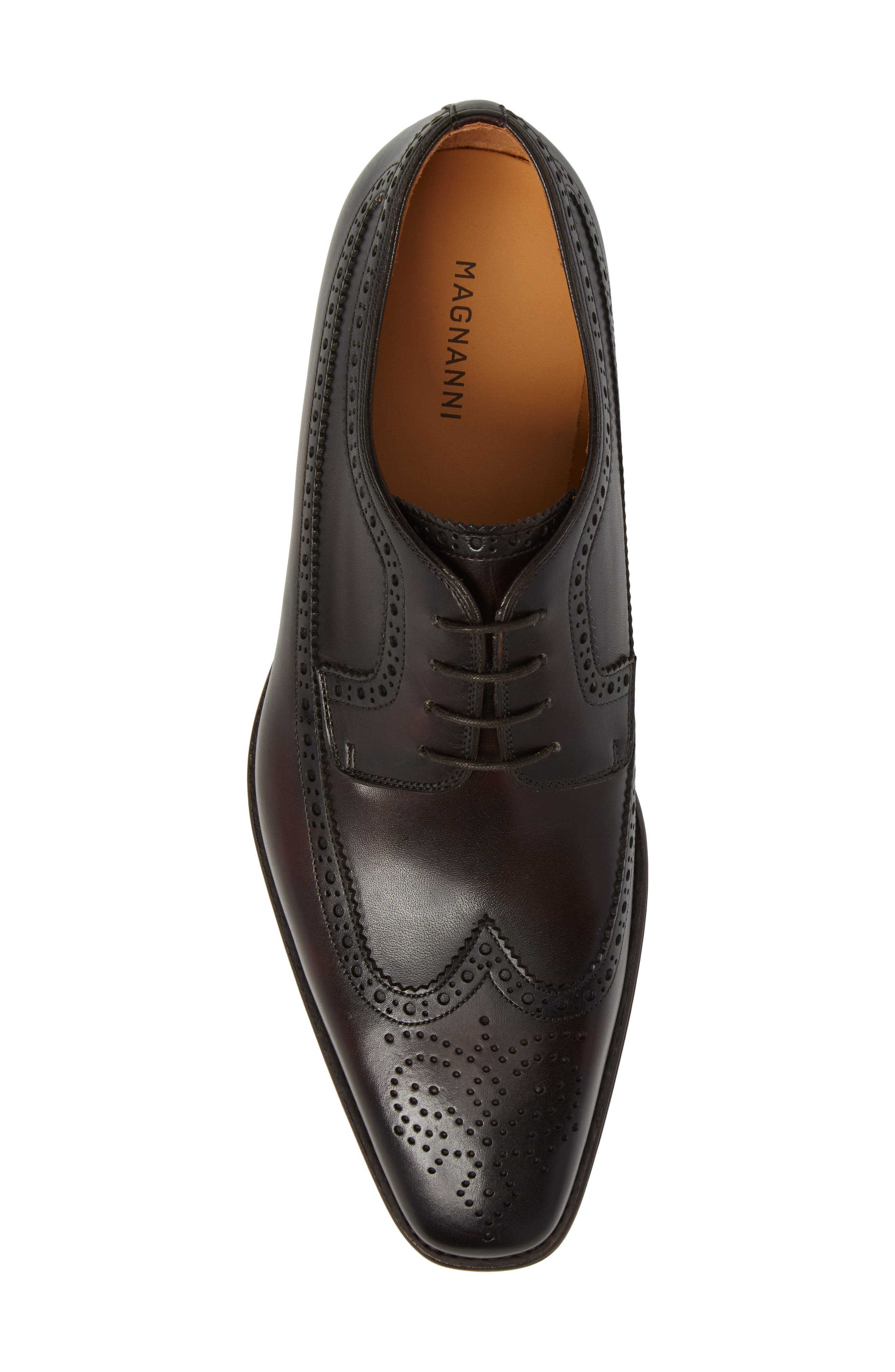 Marbelo Longwing Derby,                             Alternate thumbnail 5, color,                             Brown Leather