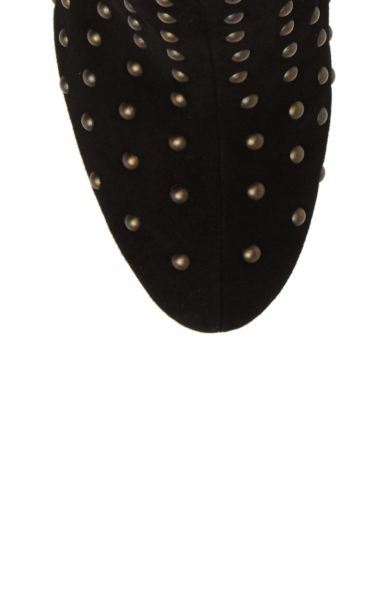 Wesson II Studded Bootie,                             Alternate thumbnail 5, color,                             Black Suede
