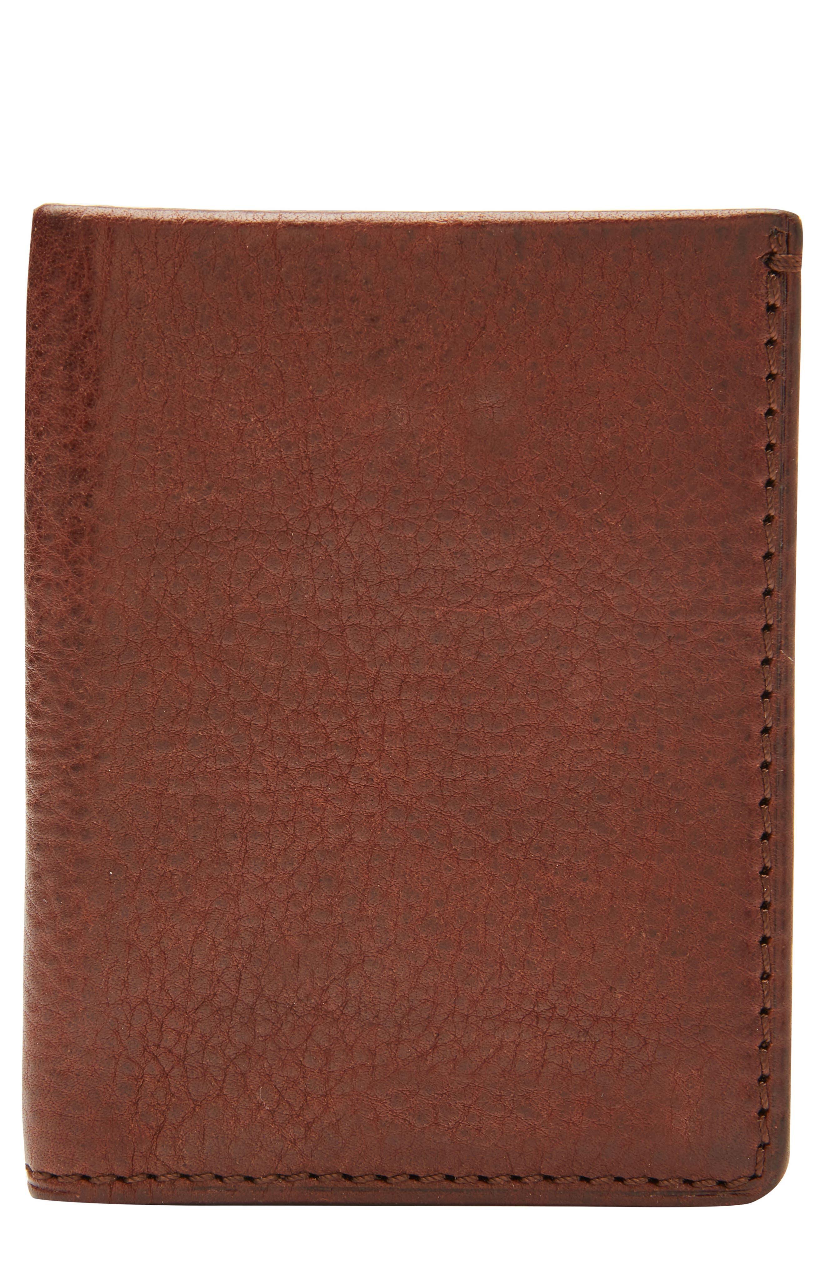Main Image - Jack Mason Leather with Selvedge Denim Card Case