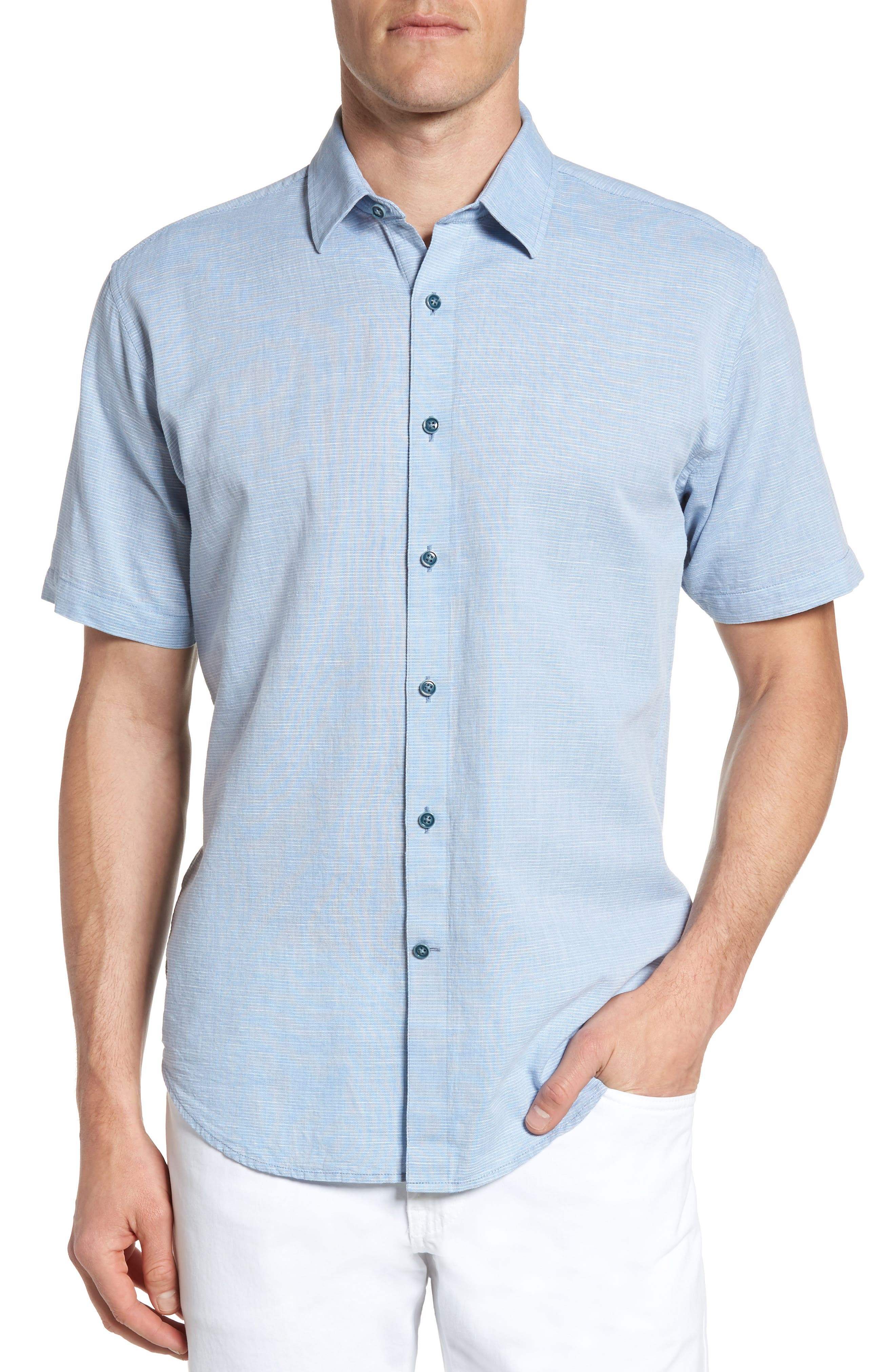 Alternate Image 1 Selected - James Campbell 'Ellerbe' Regular Fit Short Sleeve Sport Shirt