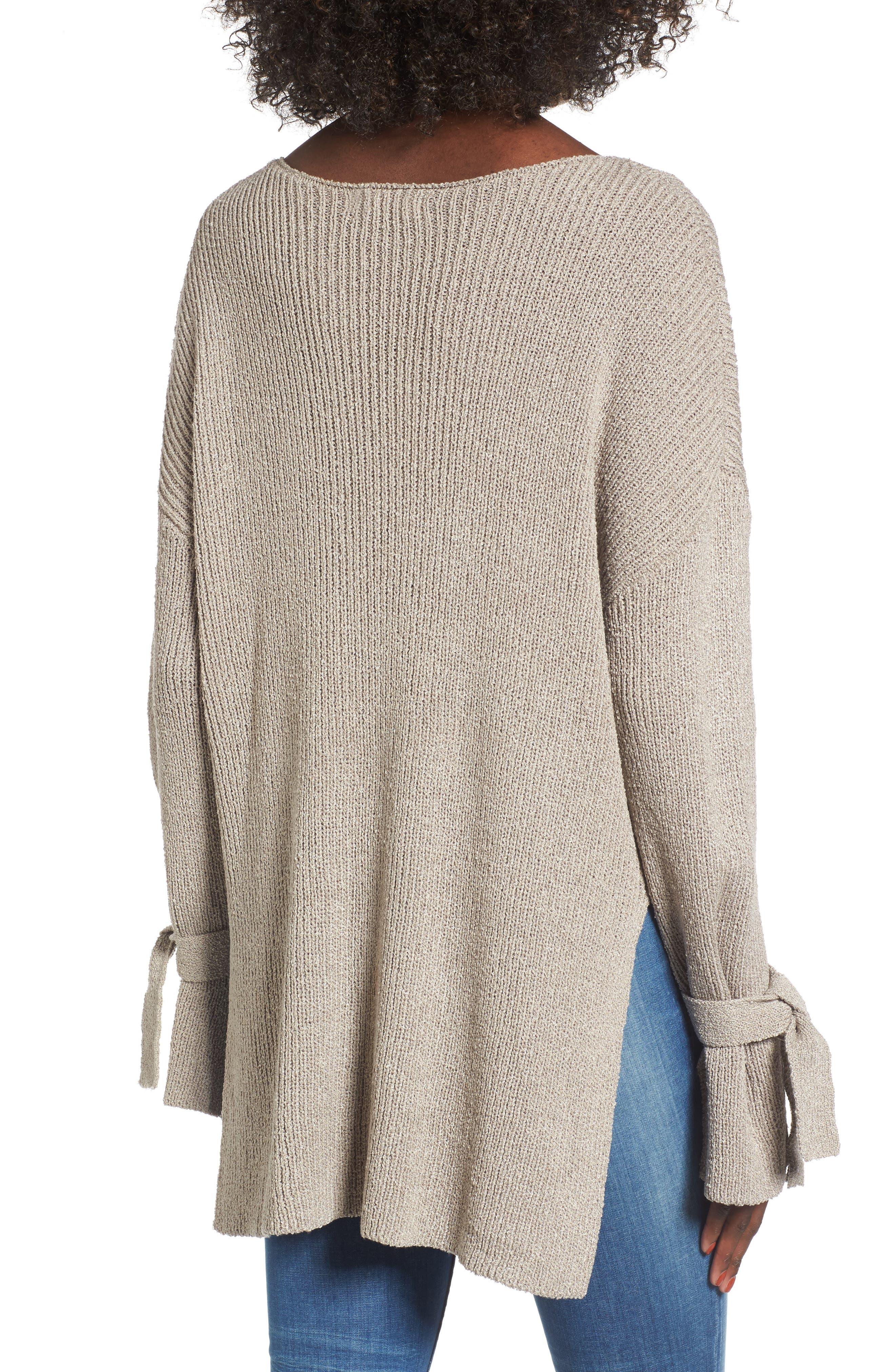 Alternate Image 2  - Tie Sleeve Sweater