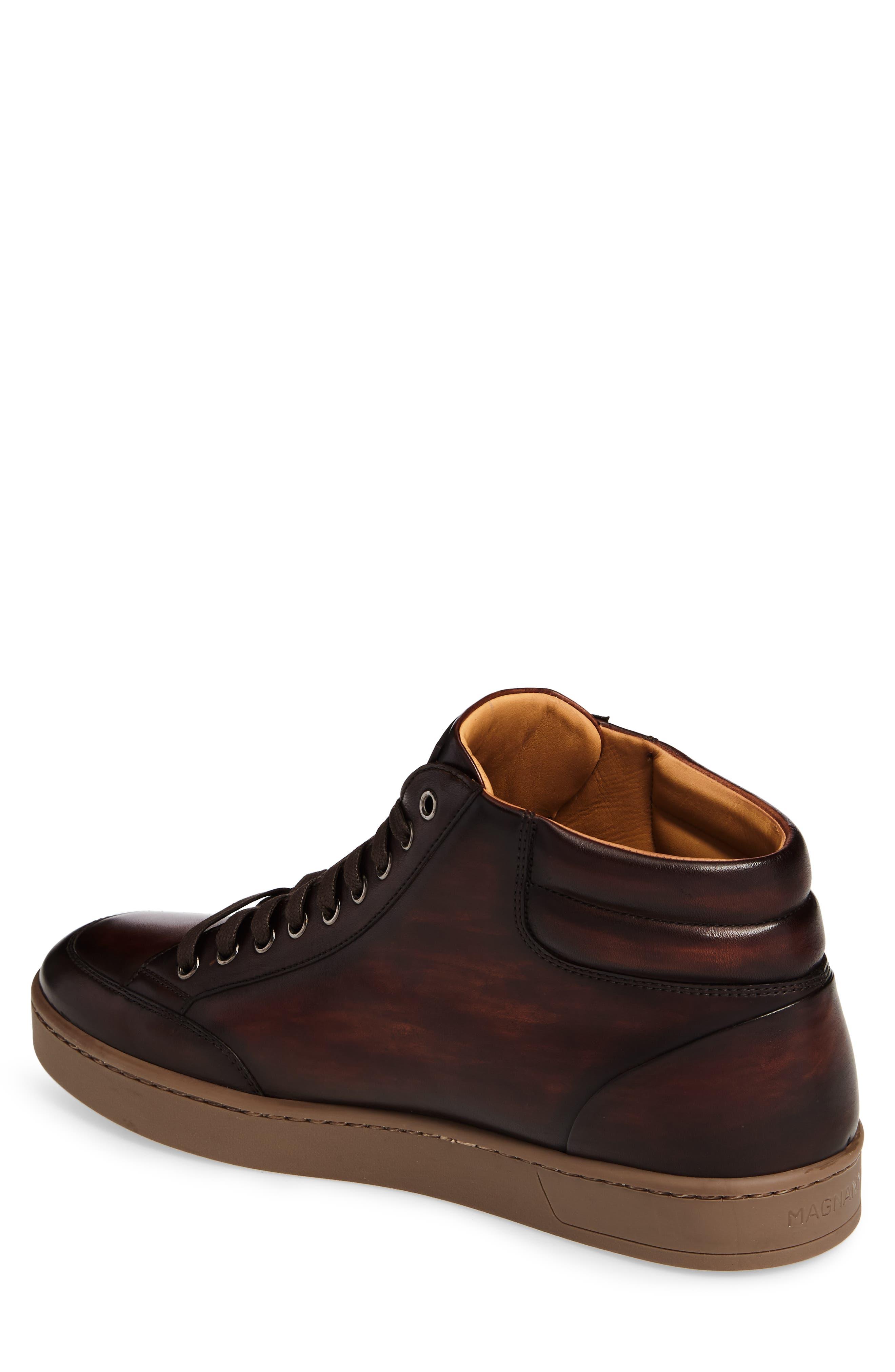 Carmel Sneaker,                             Alternate thumbnail 2, color,                             Mid Brown Leather