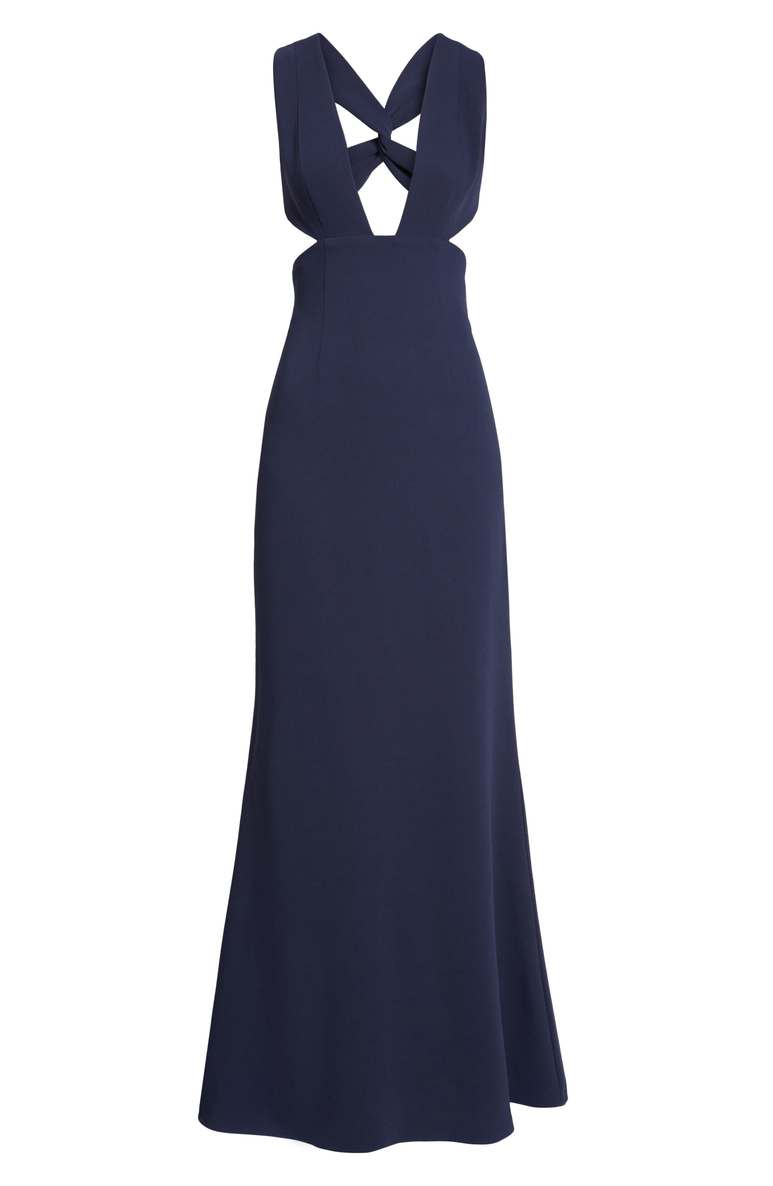 Yani Gown,                             Alternate thumbnail 6, color,                             Navy
