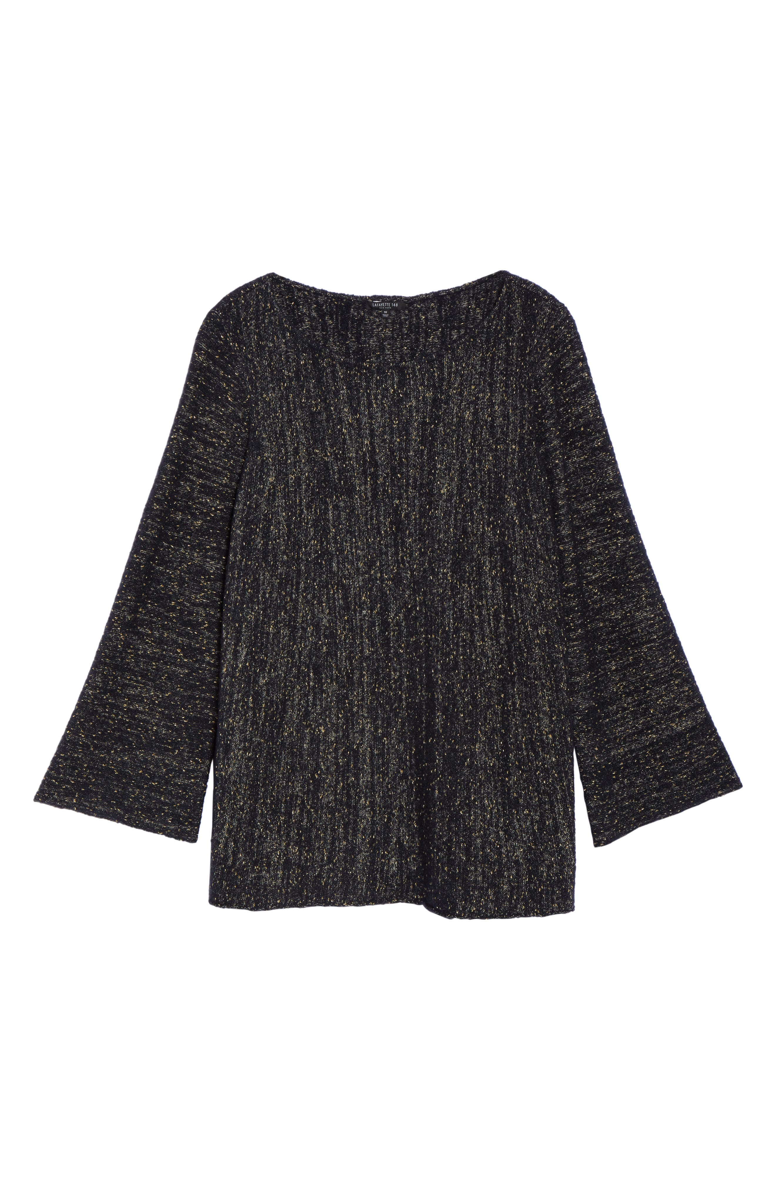 Alternate Image 6  - Lafayette 148 Metallic Knit A-Line Sweater (Plus Size)