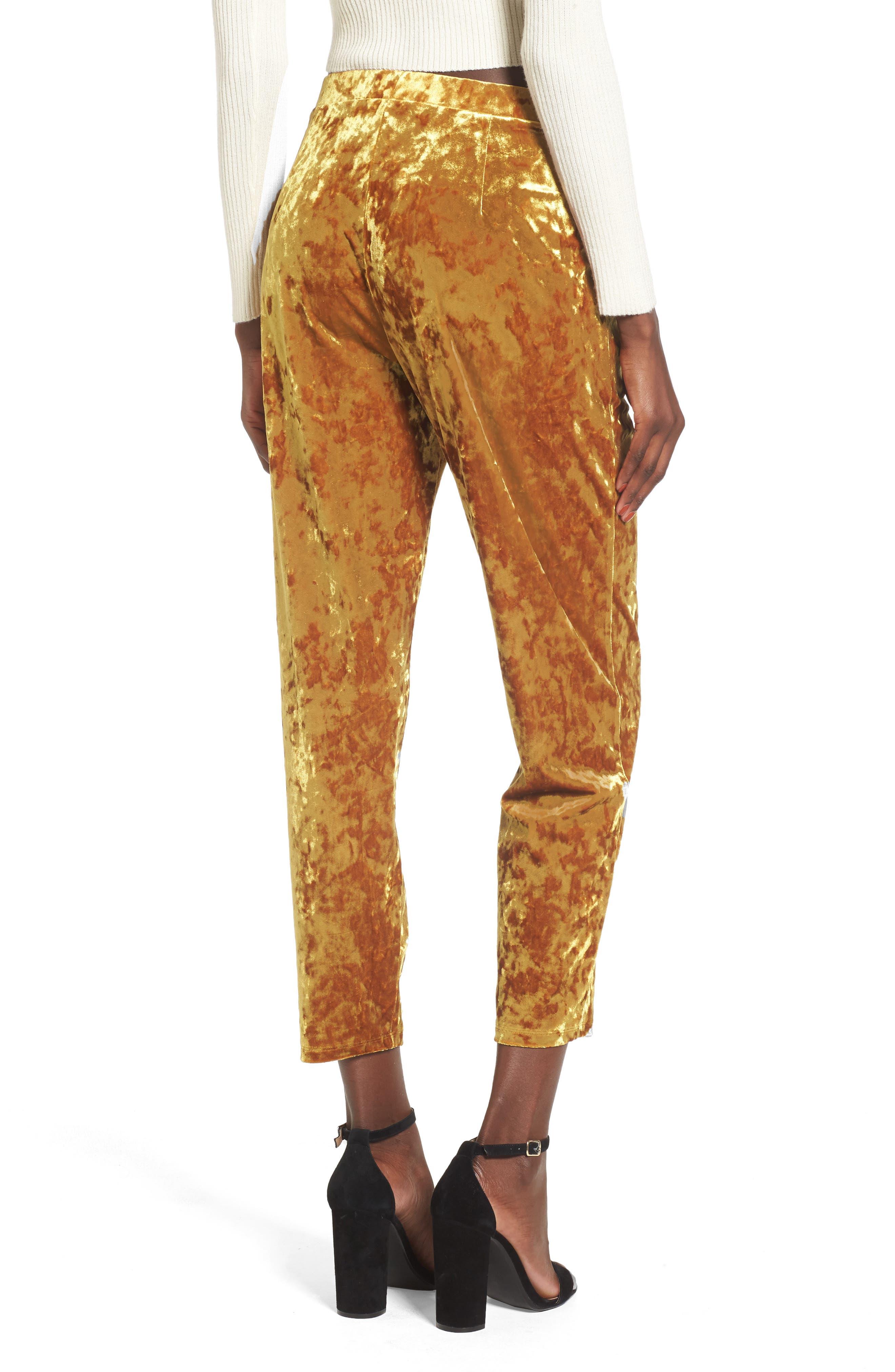 Alternate Image 2  - Leith Pleat Front Velour Pants