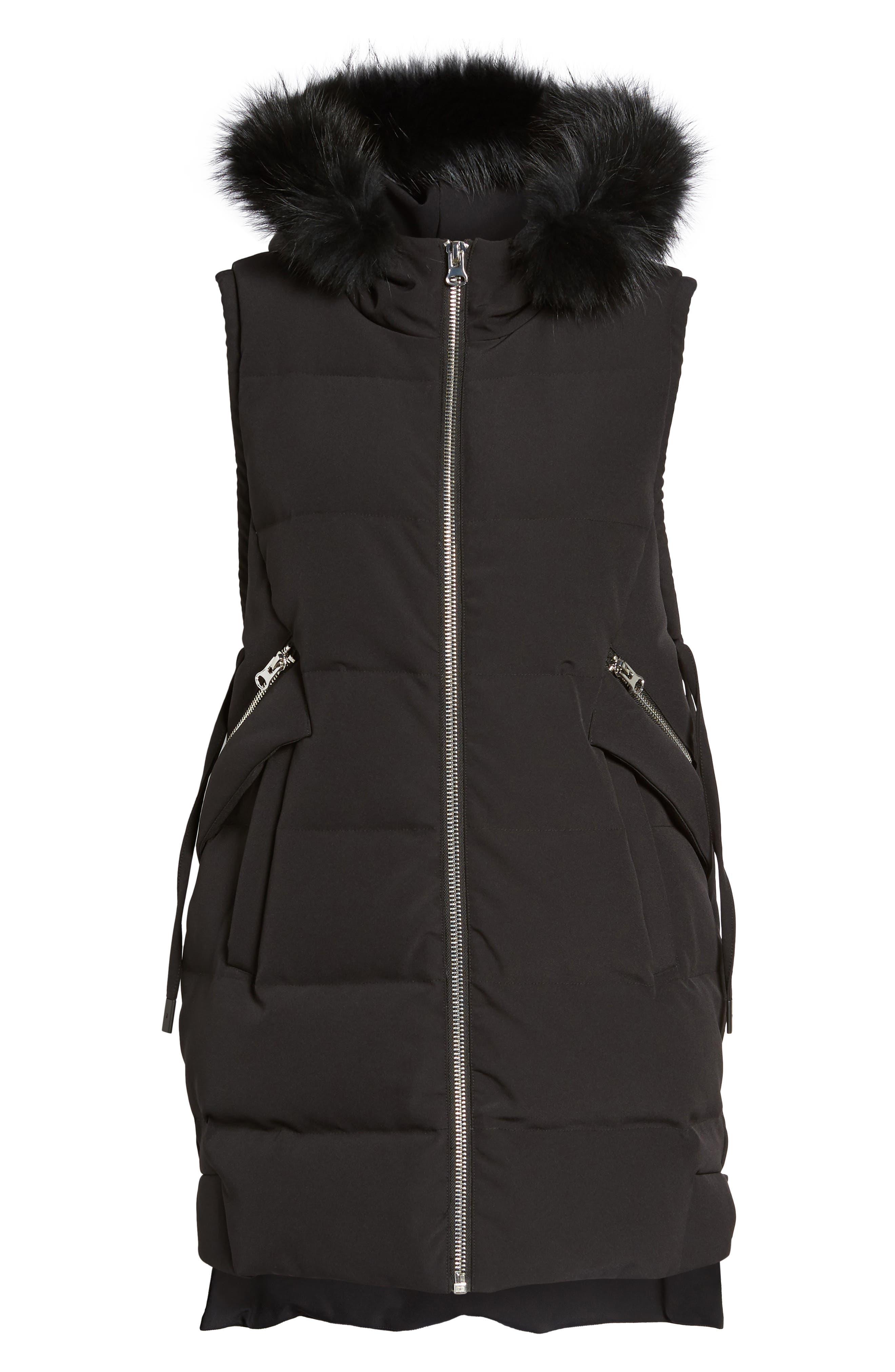 Alternate Image 6  - Derek Lam 10 Crosby Down Vest with Genuine Fox Fur