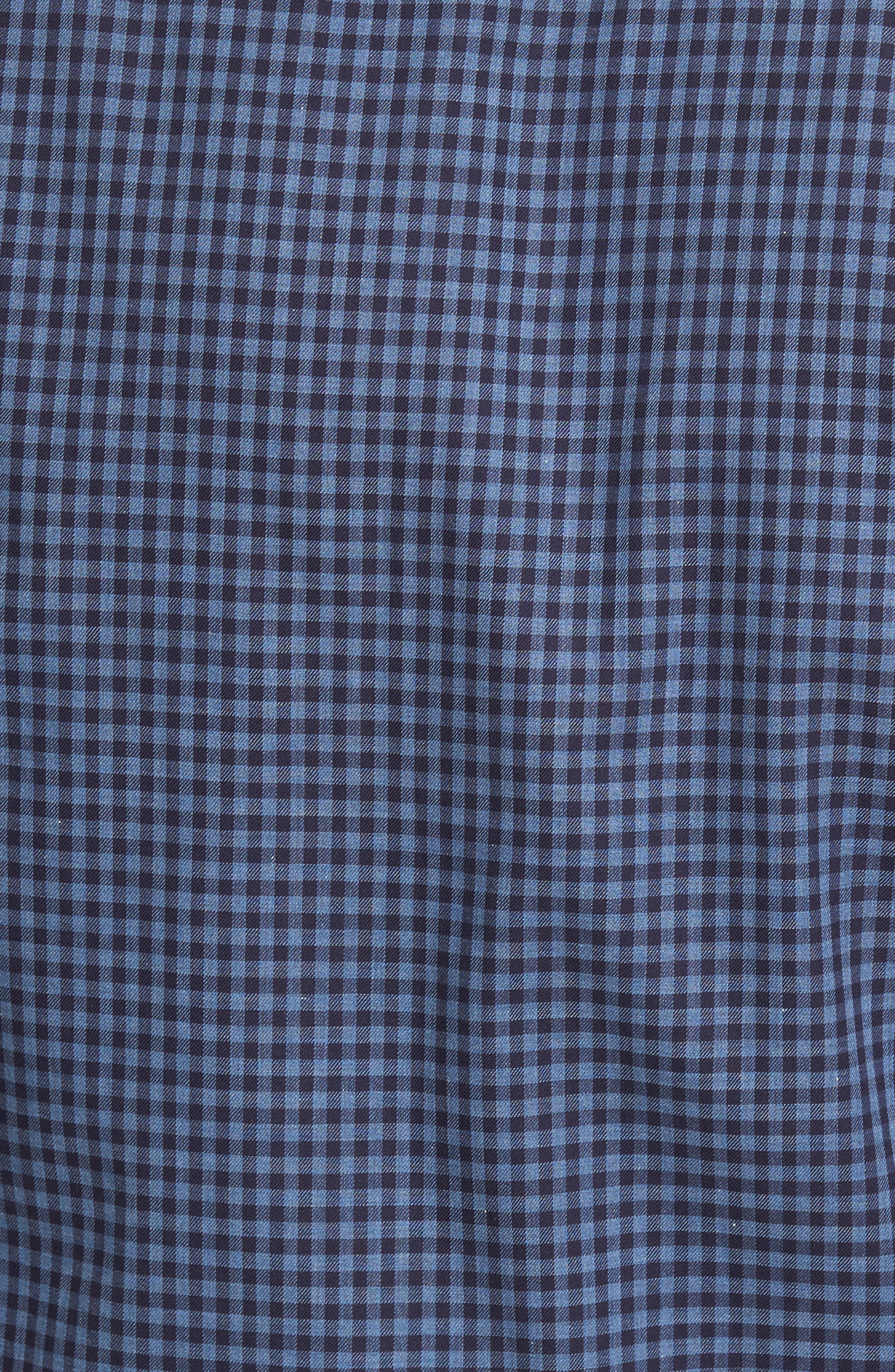Peter Millar Caledonia Regular Fit Check Sport Shirt,                             Alternate thumbnail 5, color,                             Blue