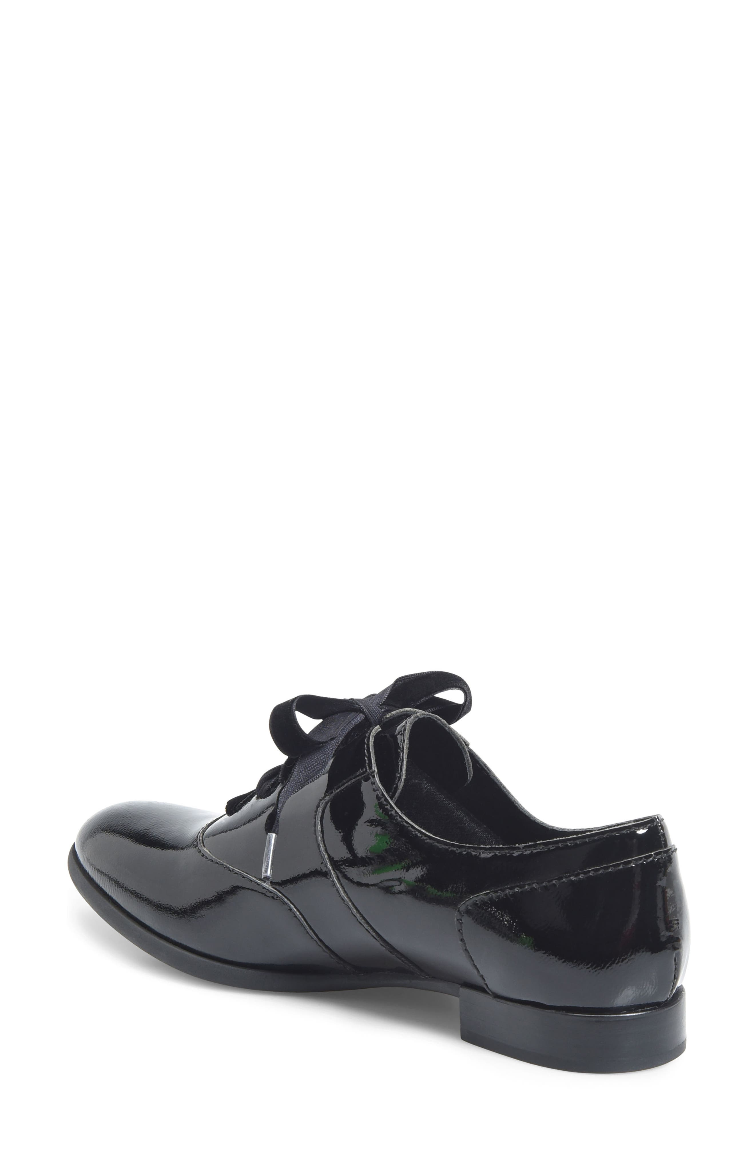 Eden Flat,                             Alternate thumbnail 2, color,                             Black Patent Leather