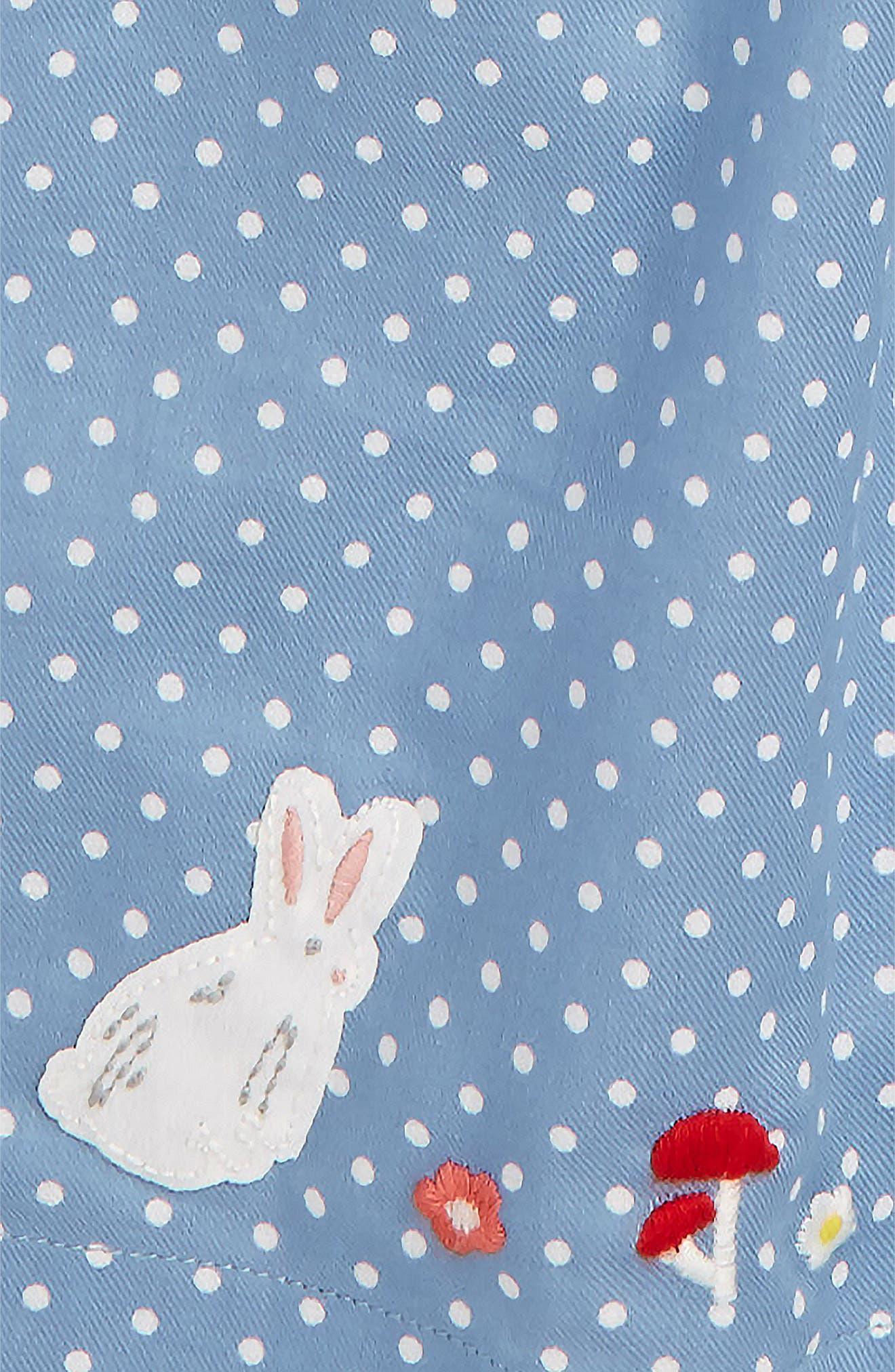 Pretty Print Smocked Dress,                             Alternate thumbnail 2, color,                             Wren Blue