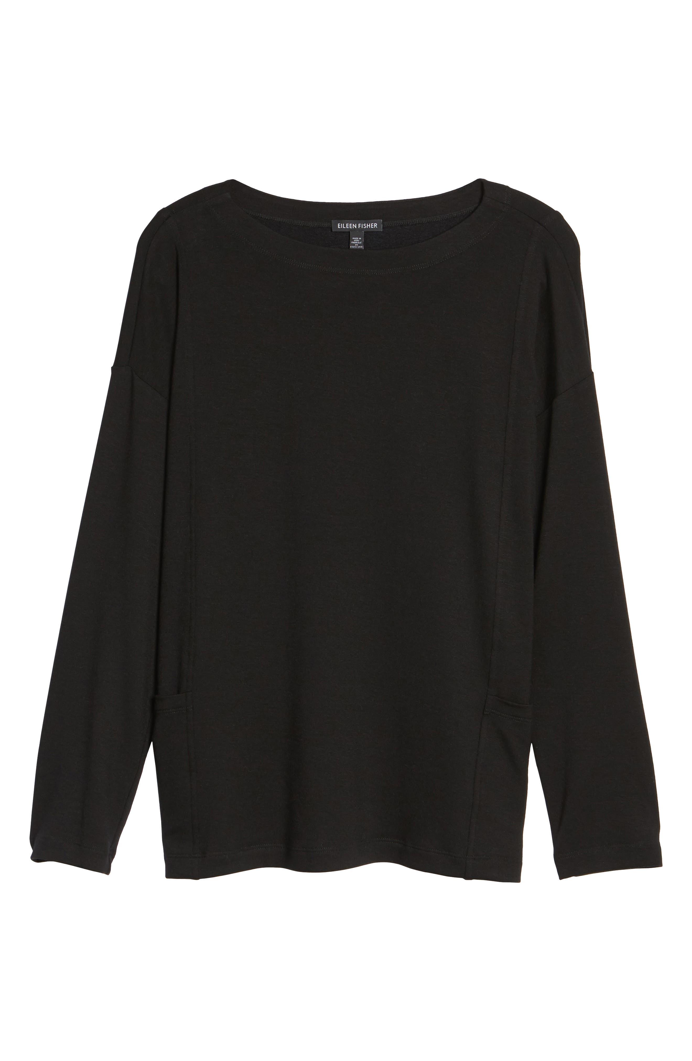 Alternate Image 6  - Eileen Fisher Bateau Neck Sweater
