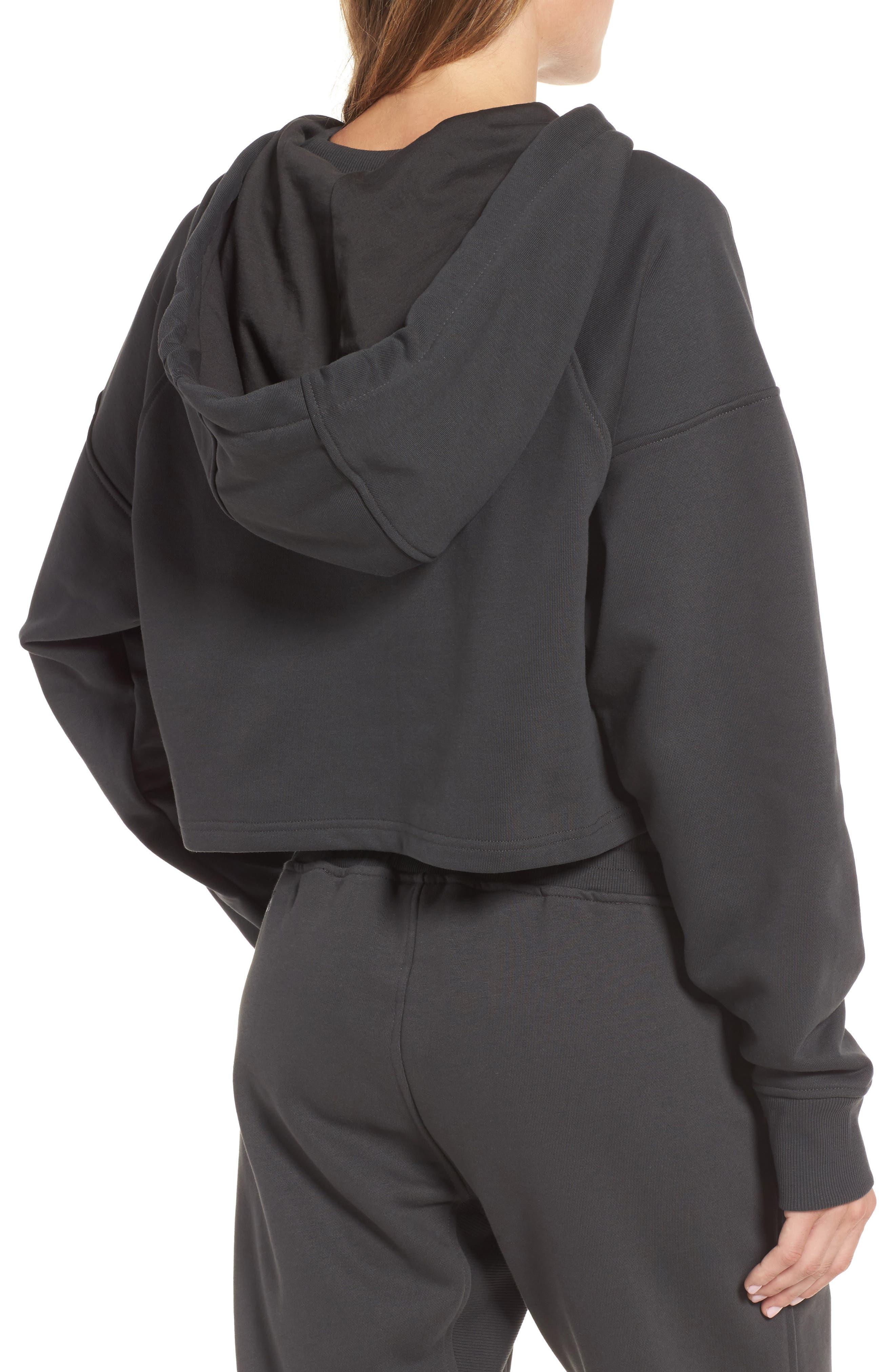 Alternate Image 2  - IVY PARK® Washed Jersey Logo Crop Hoodie