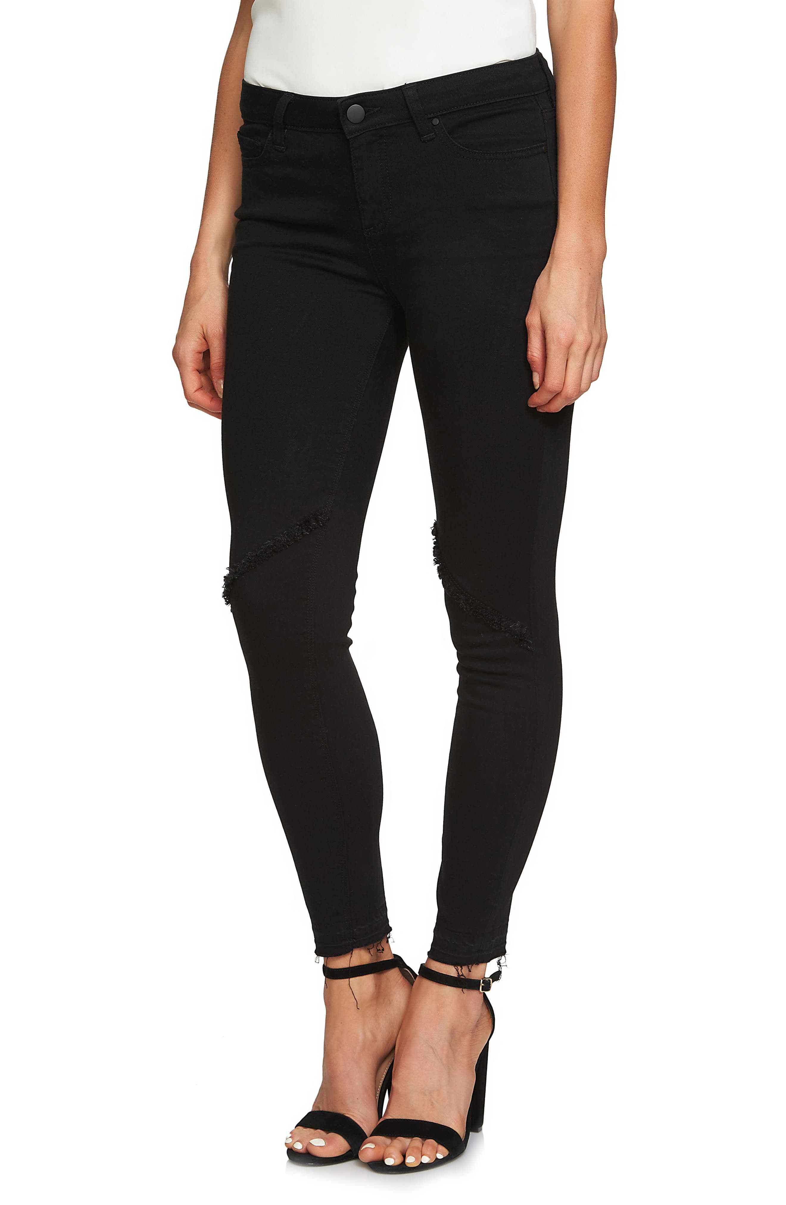 Alternate Image 3  - 1.STATE Frayed Skinny Jeans (Super Wash)