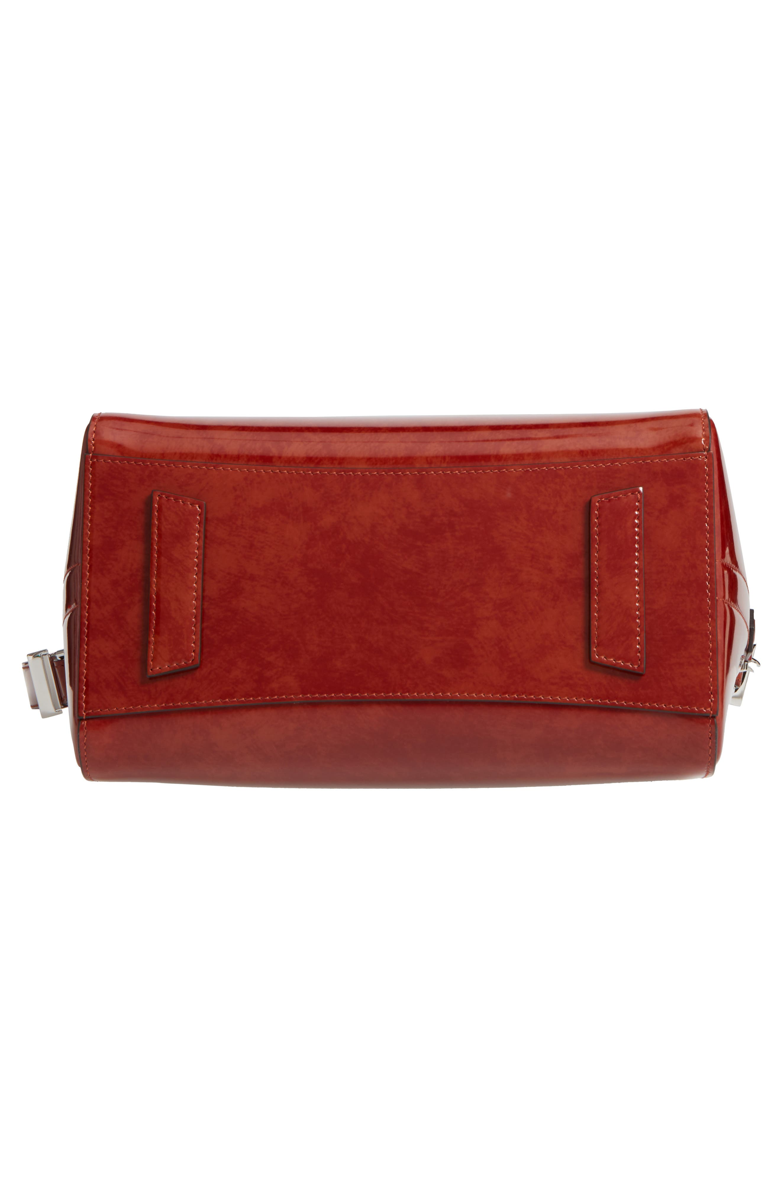 Small Antigona Glazed Leather Satchel,                             Alternate thumbnail 6, color,                             Light Brown