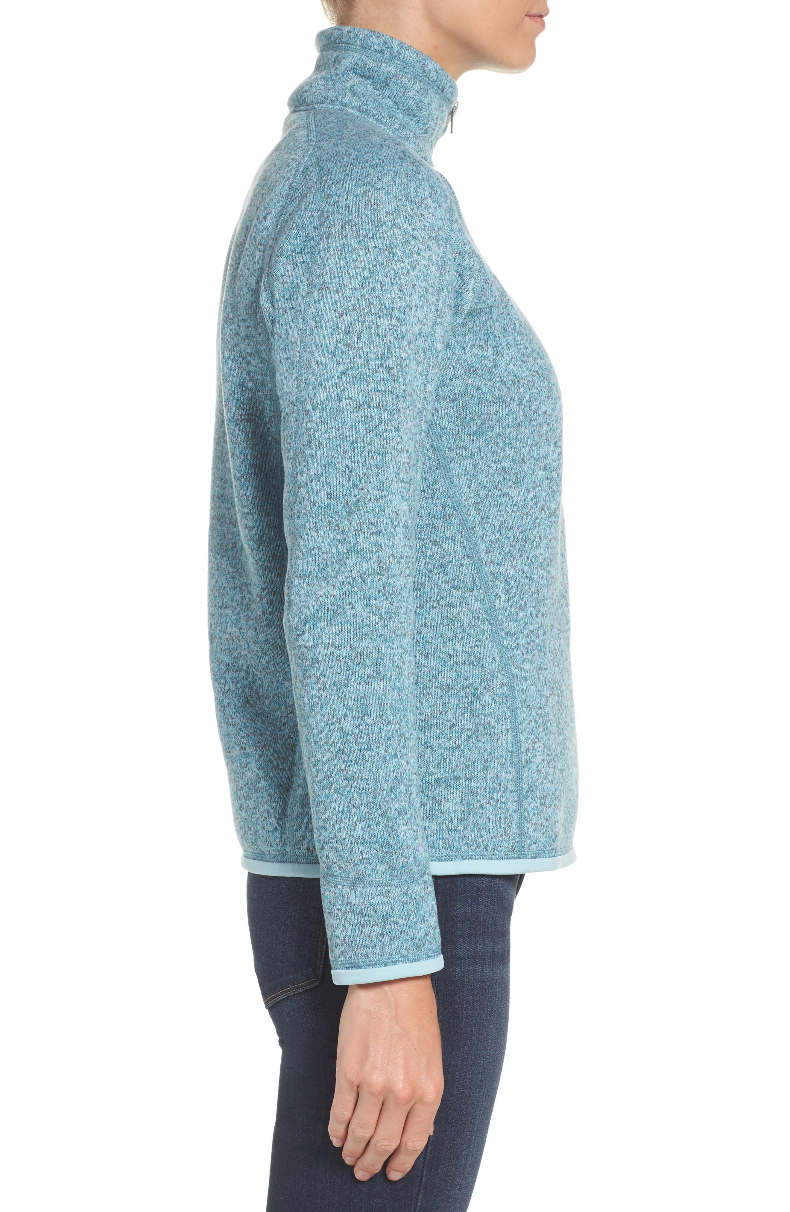 'Better Sweater' Zip Pullover,                             Alternate thumbnail 3, color,                             Tubular Blue W/ Crevasse Blue