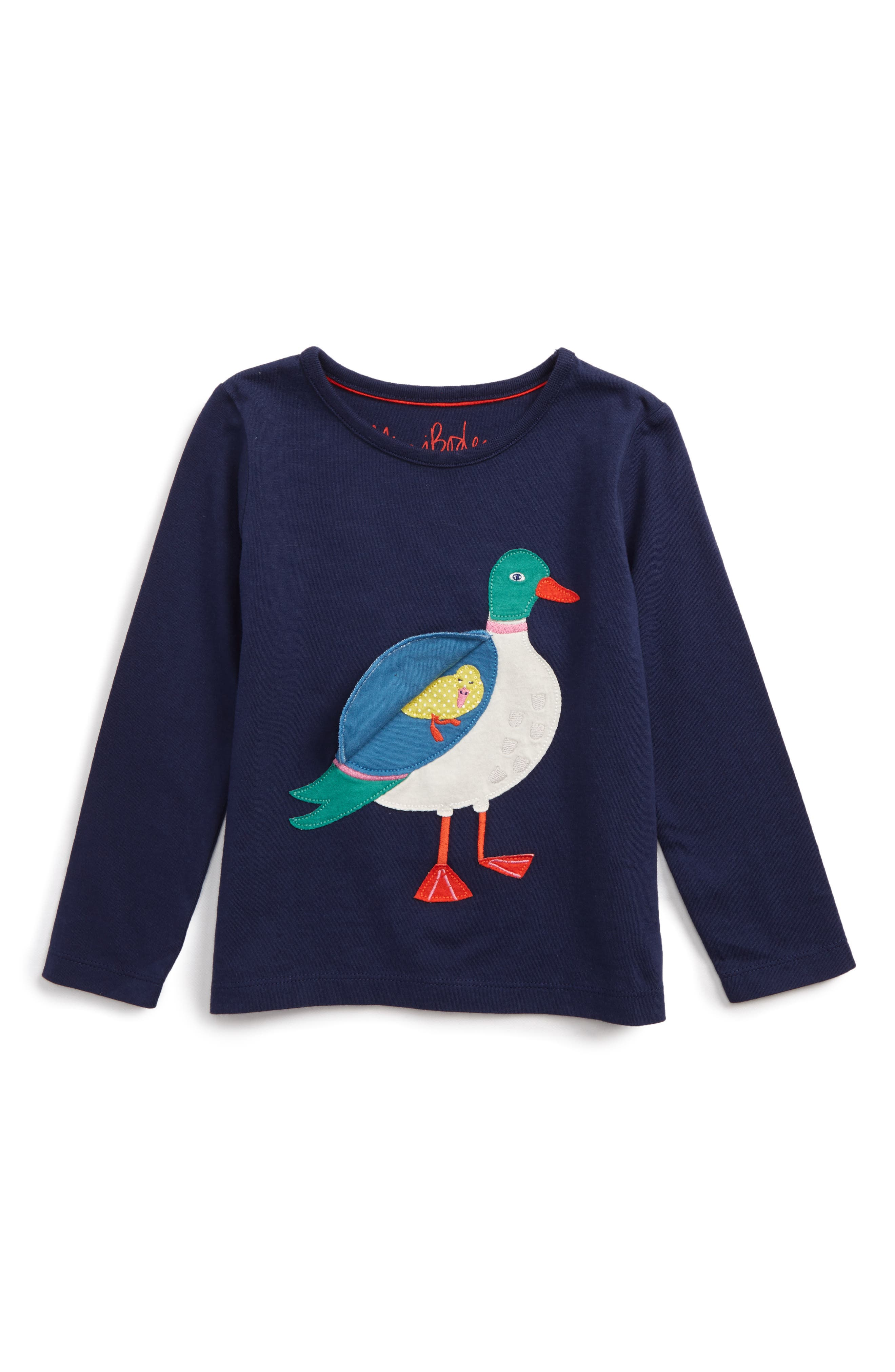 Alternate Image 2  - Mini Boden River Bank Appliqué Tee (Toddler Girls, Little Girls & Big Girls)