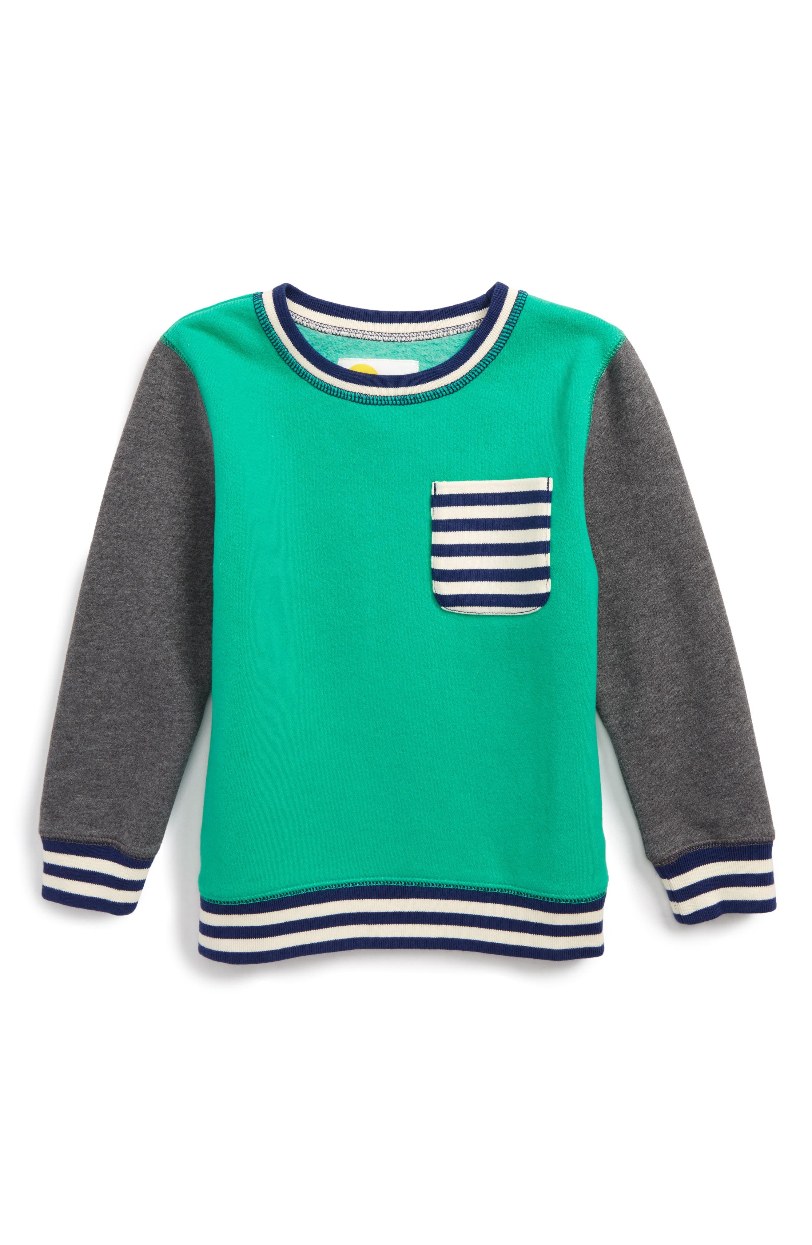 Alternate Image 1 Selected - Mini Boden Fun Sweatshirt (Toddler Boys, Little Boys & Big Boys)