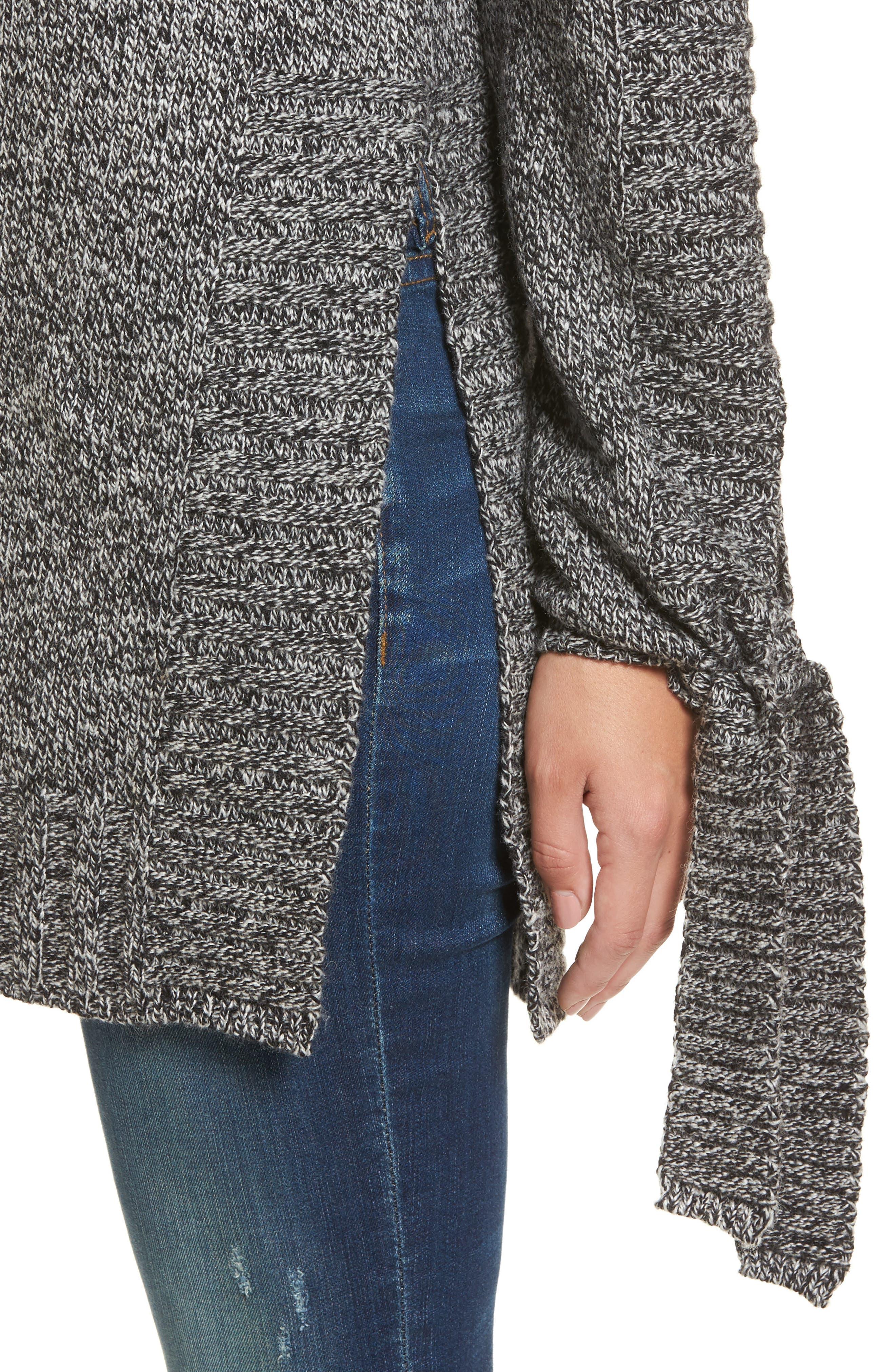 Side Slit Sweater,                             Alternate thumbnail 4, color,                             Charcoal