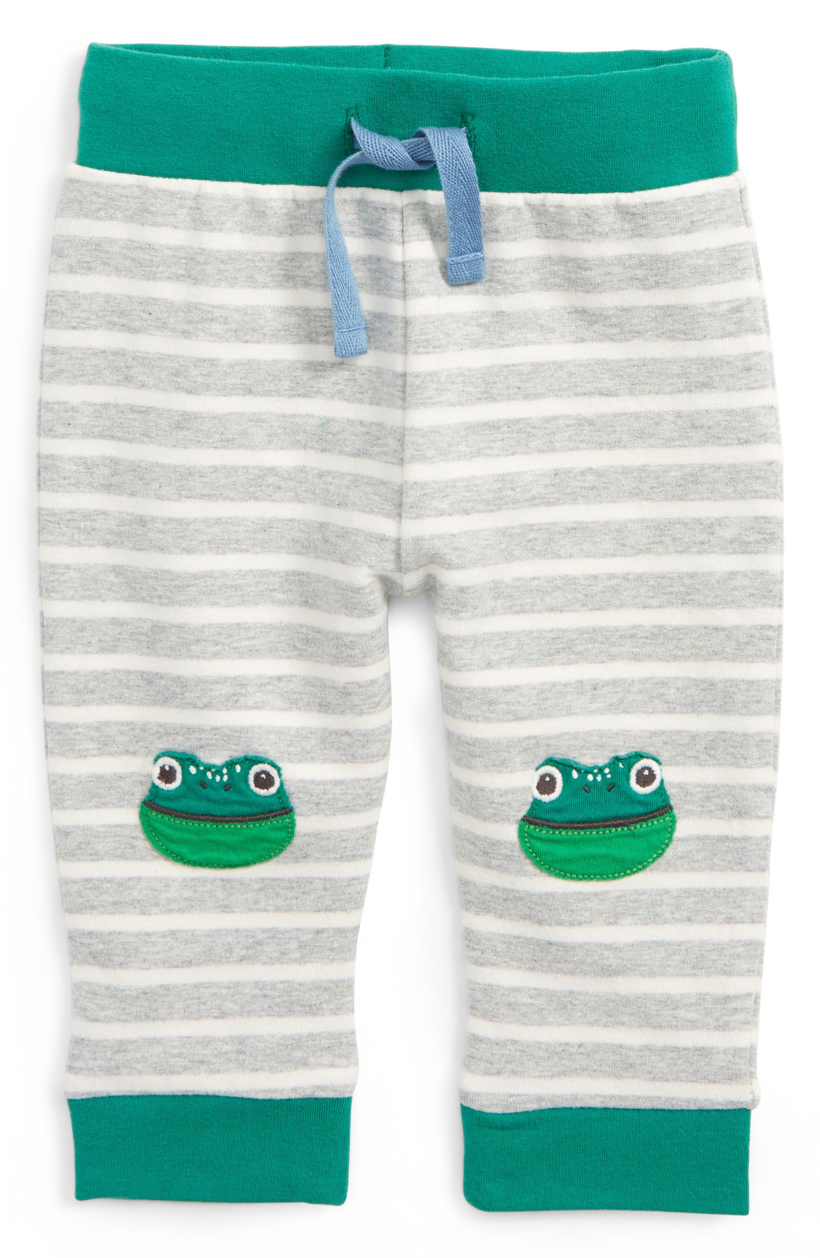 Mini Boden Fun Frog Appliqué Pants (Baby Boys & Toddler Boys)