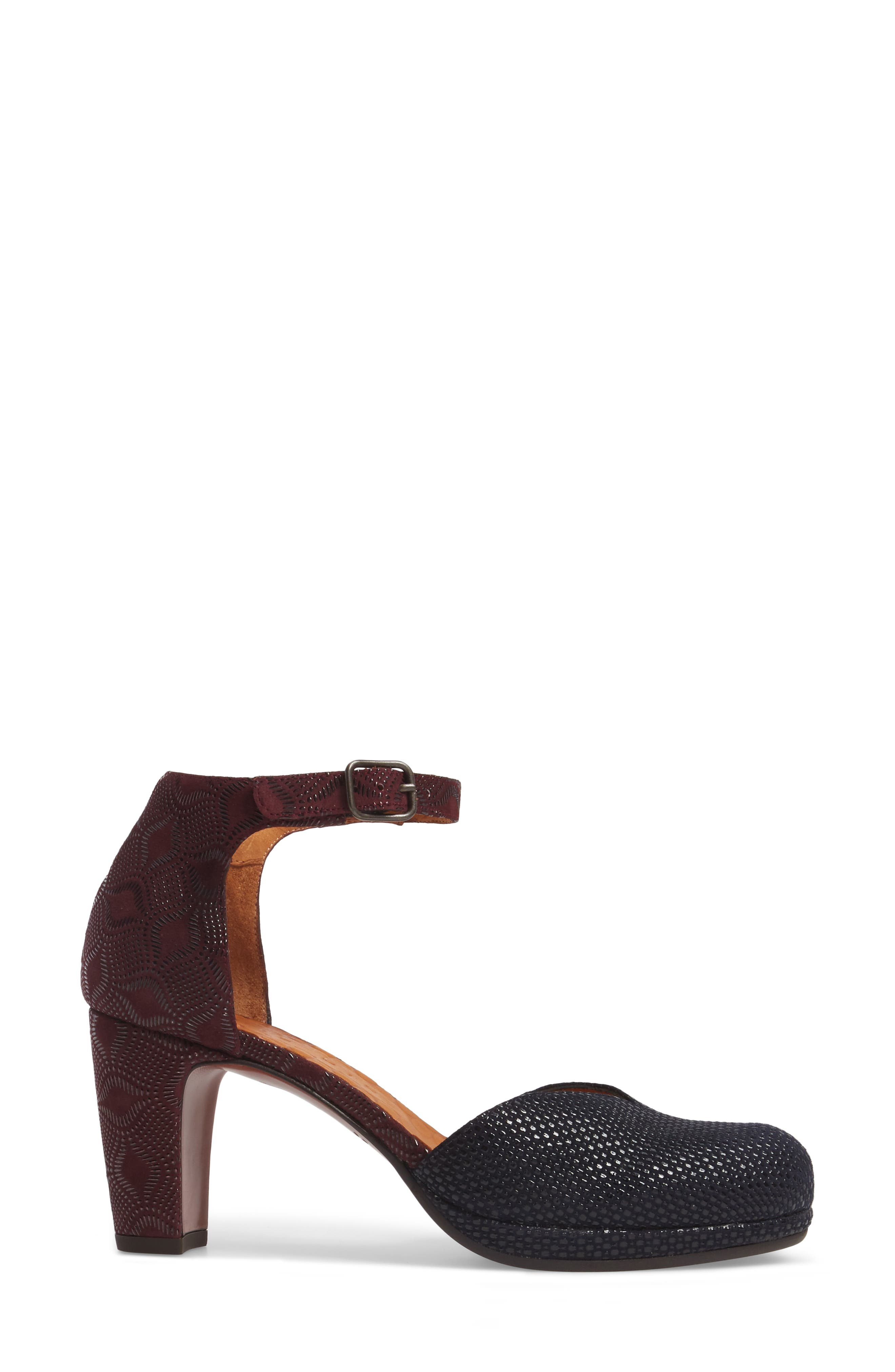Maho d'Orsay Ankle Strap Pump,                             Alternate thumbnail 3, color,                             Navy