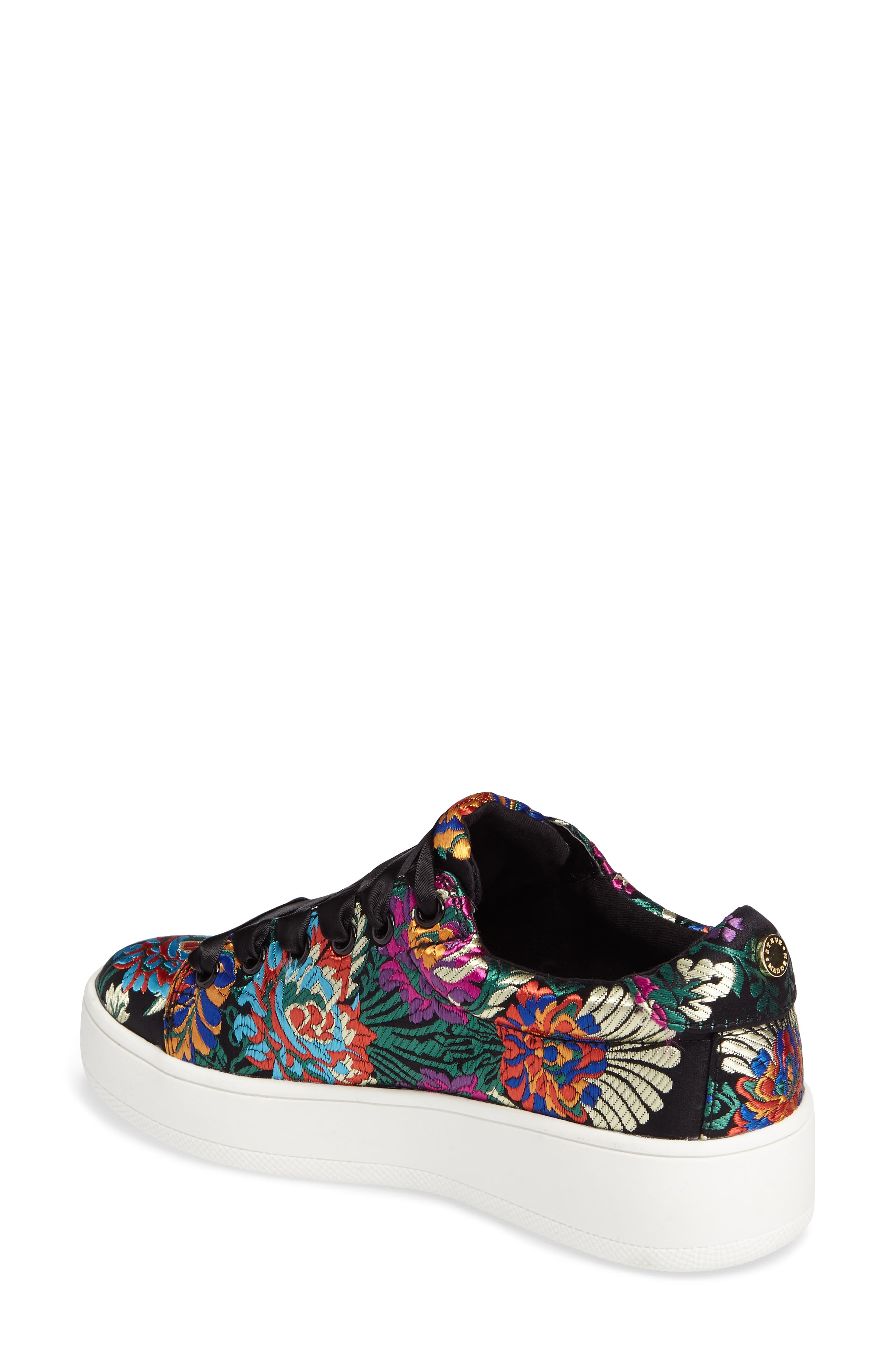 Brody Embroidered Flower Sneaker,                             Alternate thumbnail 2, color,                             Multi