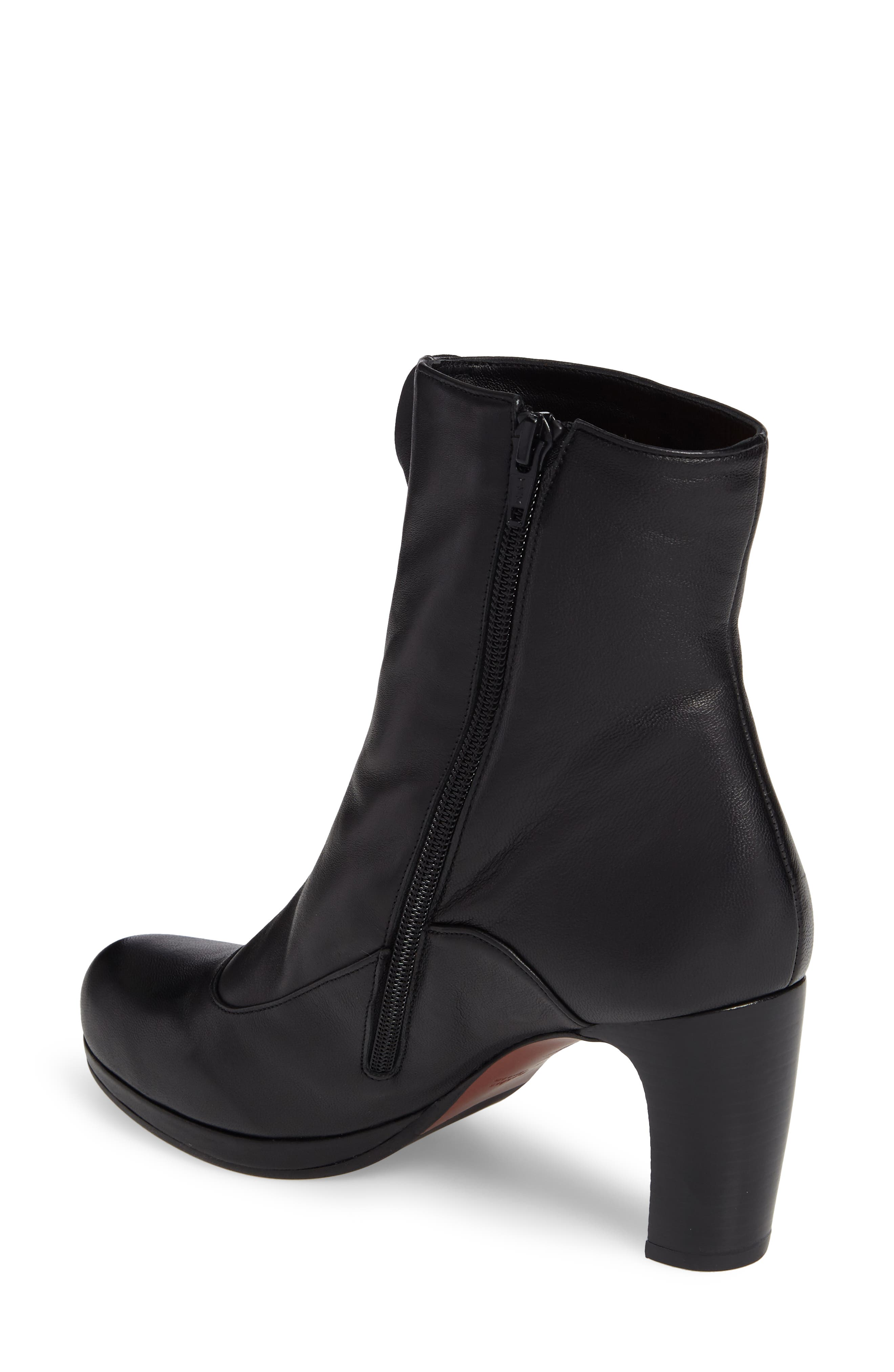 Picoli Ruffle Bootie,                             Alternate thumbnail 2, color,                             Negro