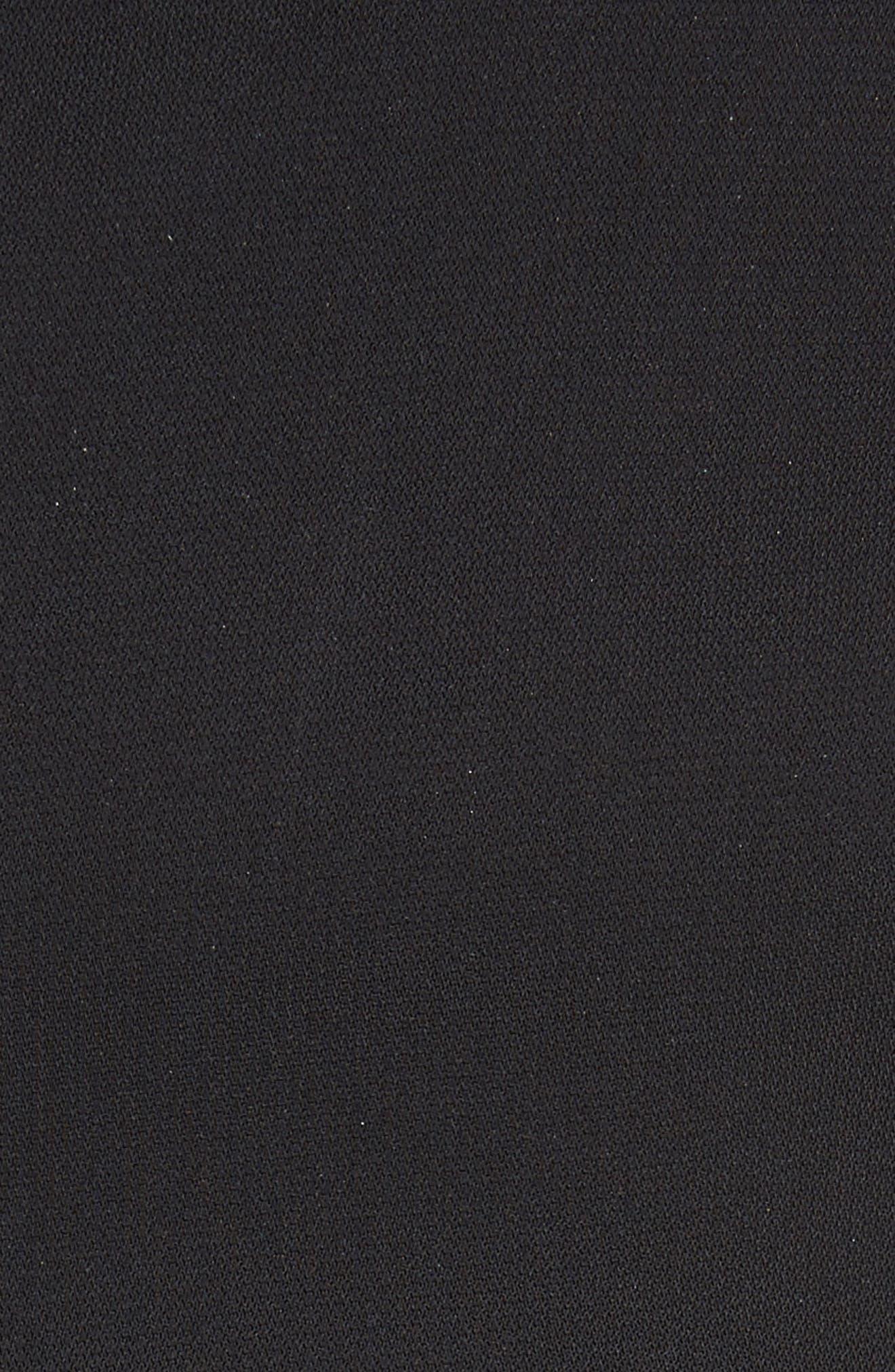 Elettra Ruffle Front Bonded Crepe Halter Dress,                             Alternate thumbnail 6, color,                             Black/ Graphite