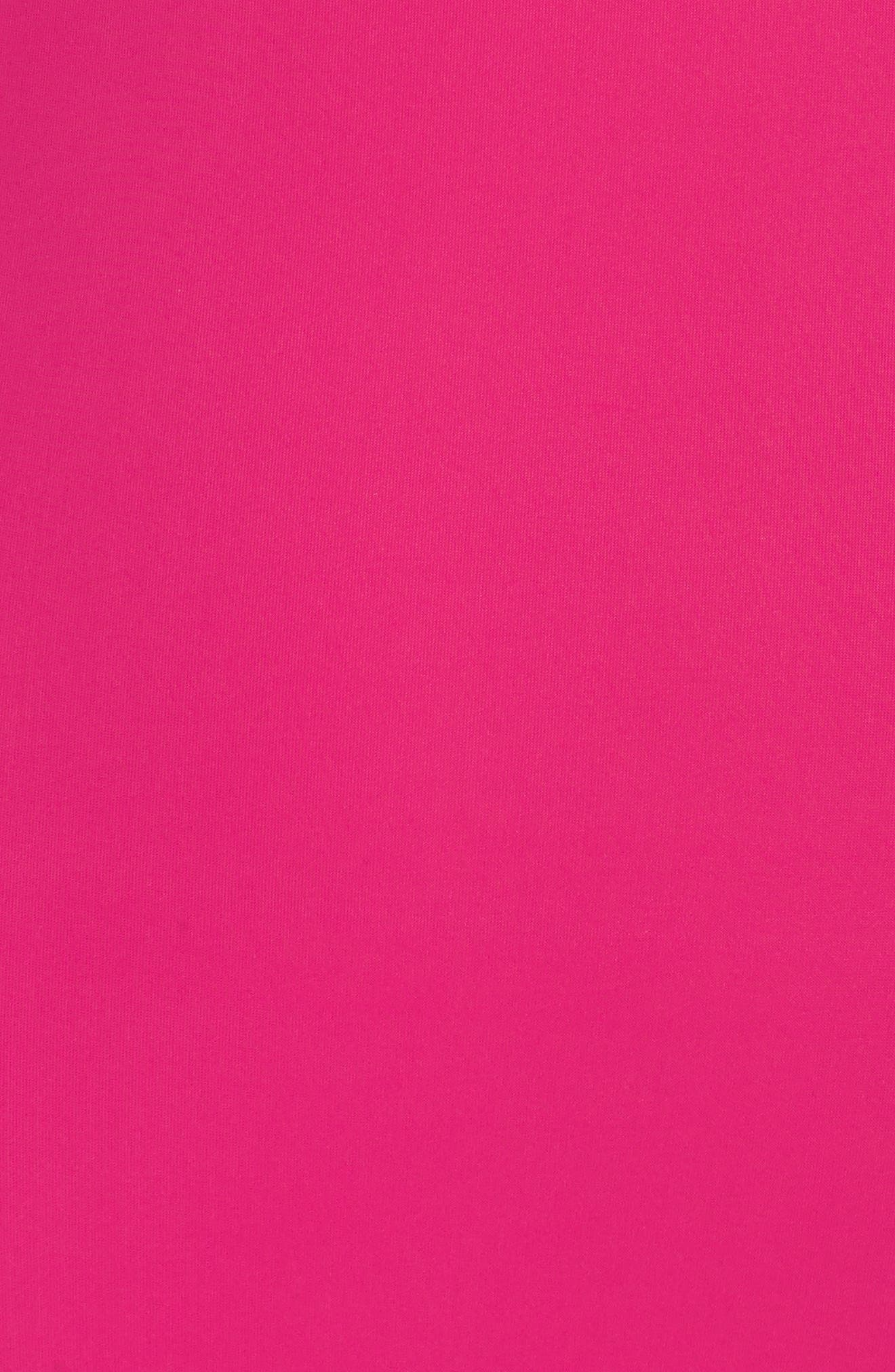 Halter One-Piece Swimsuit,                             Alternate thumbnail 6, color,                             Hot Pink
