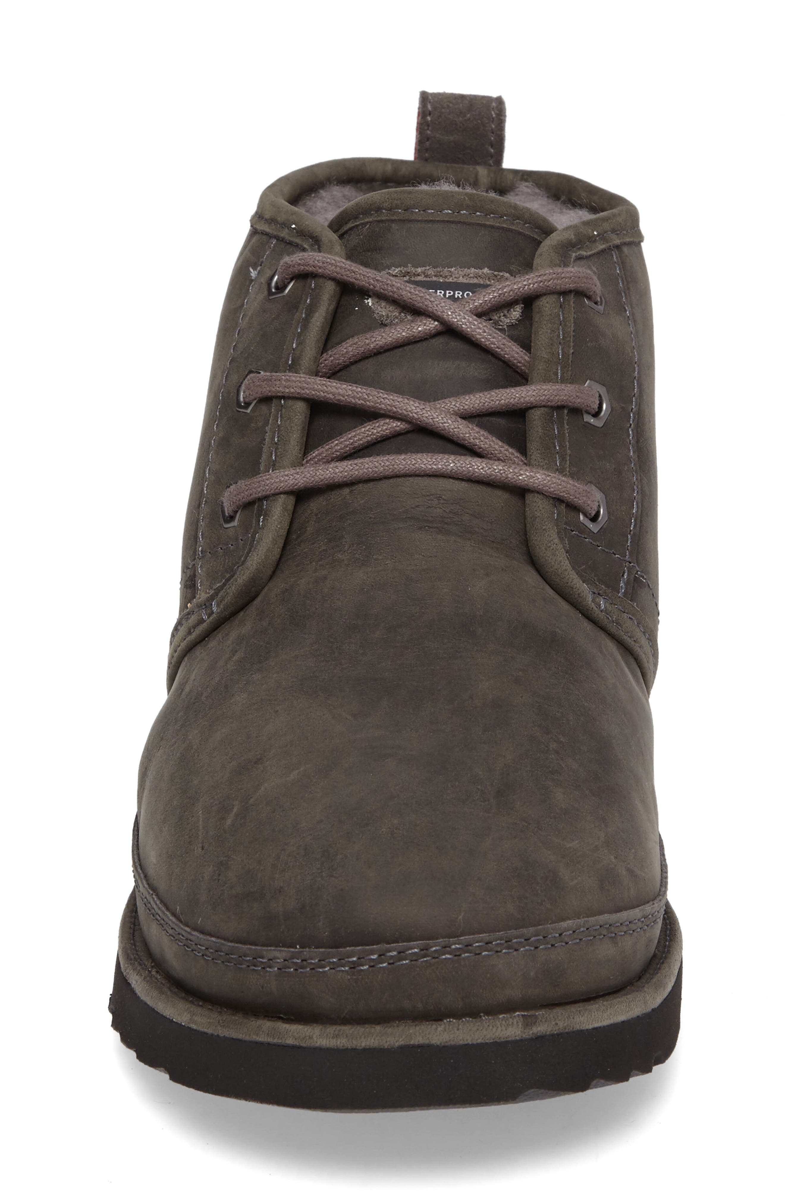 Neumel Waterproof Chukka Boot,                             Alternate thumbnail 4, color,                             Charcoal