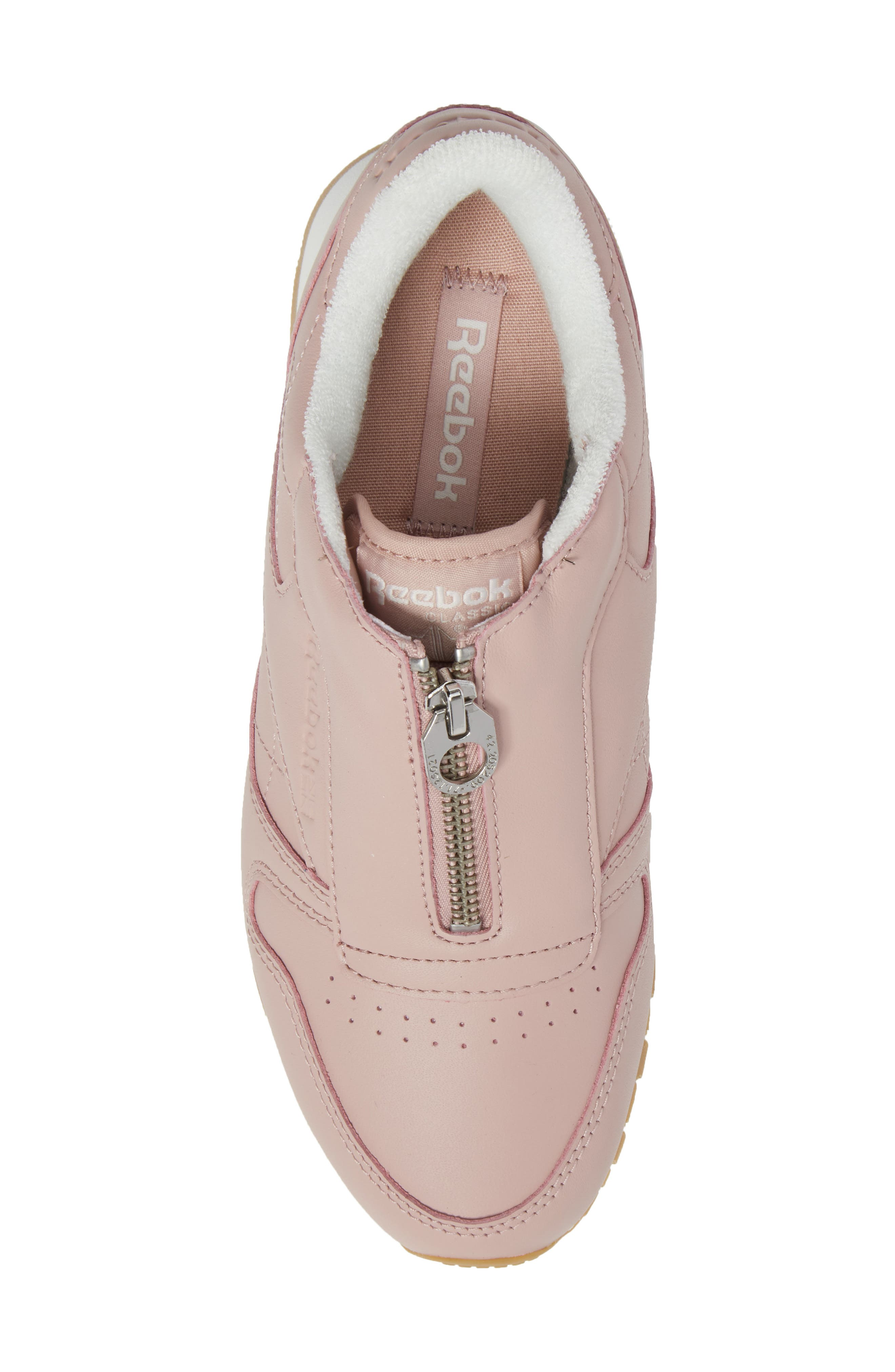 Classic Zip Sneaker,                             Alternate thumbnail 5, color,                             Shell Pink/ Chalk/ Silver