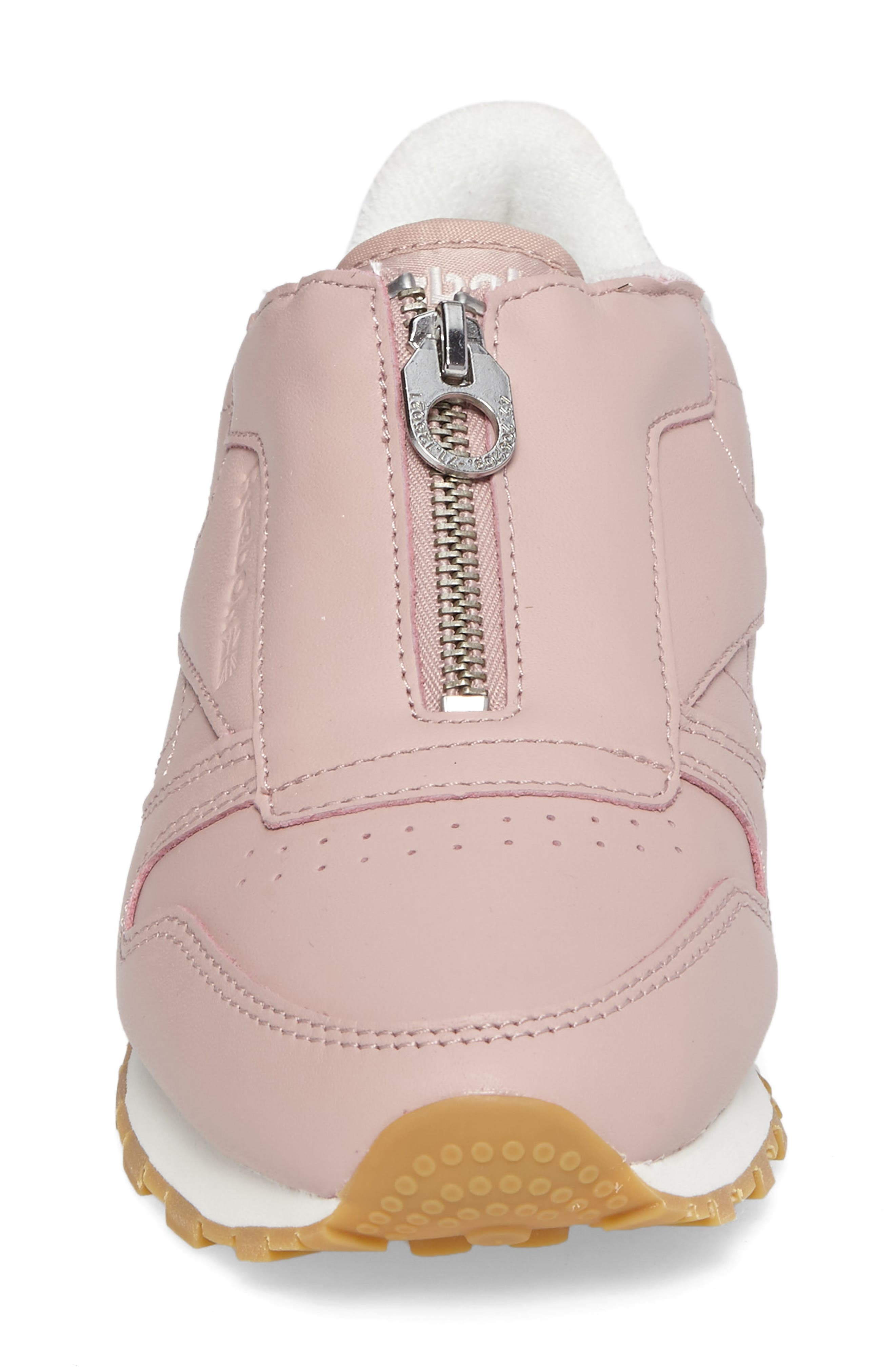 Classic Zip Sneaker,                             Alternate thumbnail 4, color,                             Shell Pink/ Chalk/ Silver