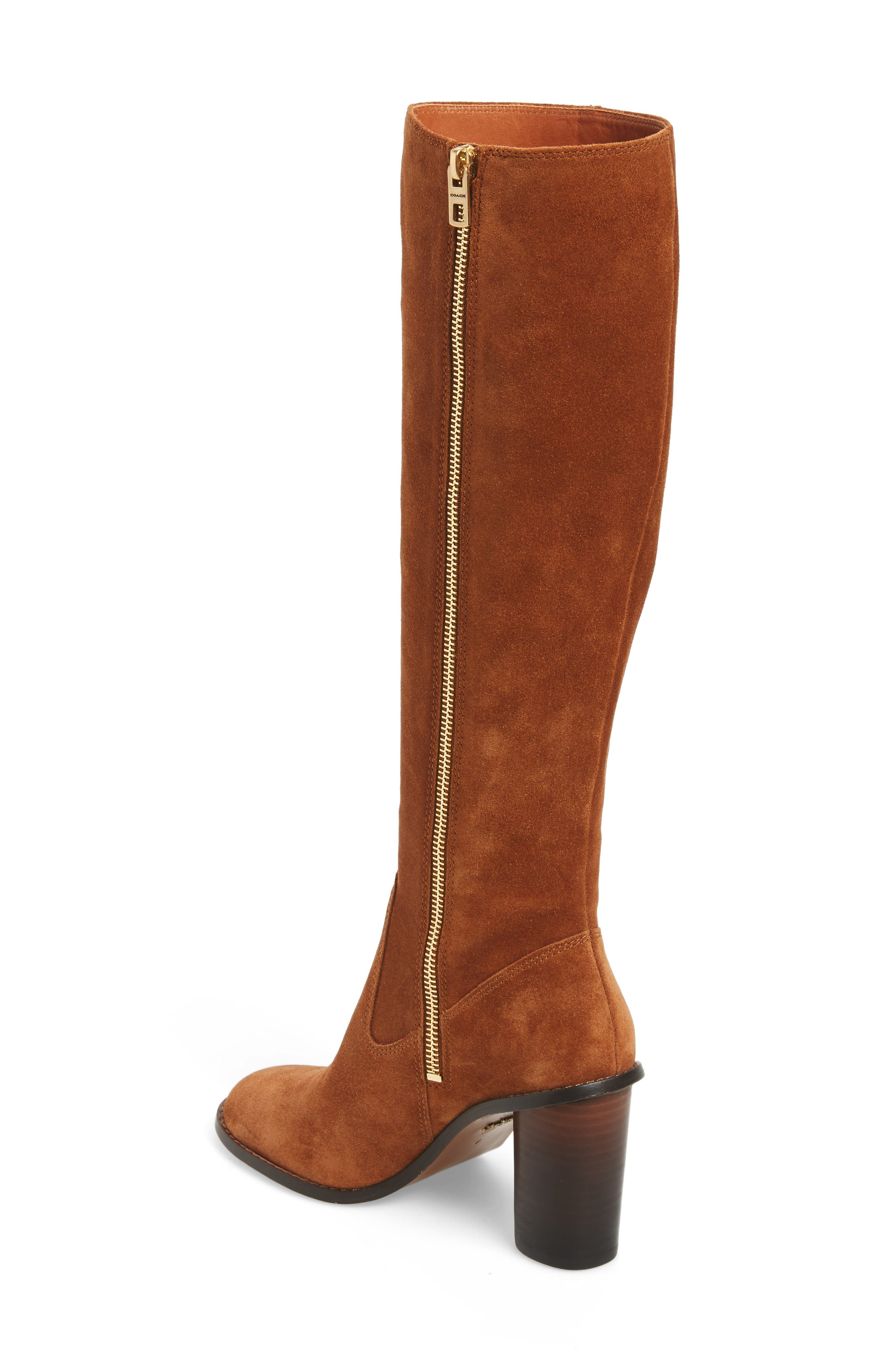 Ombré Knee High Boot,                             Alternate thumbnail 2, color,                             Saddle Suede