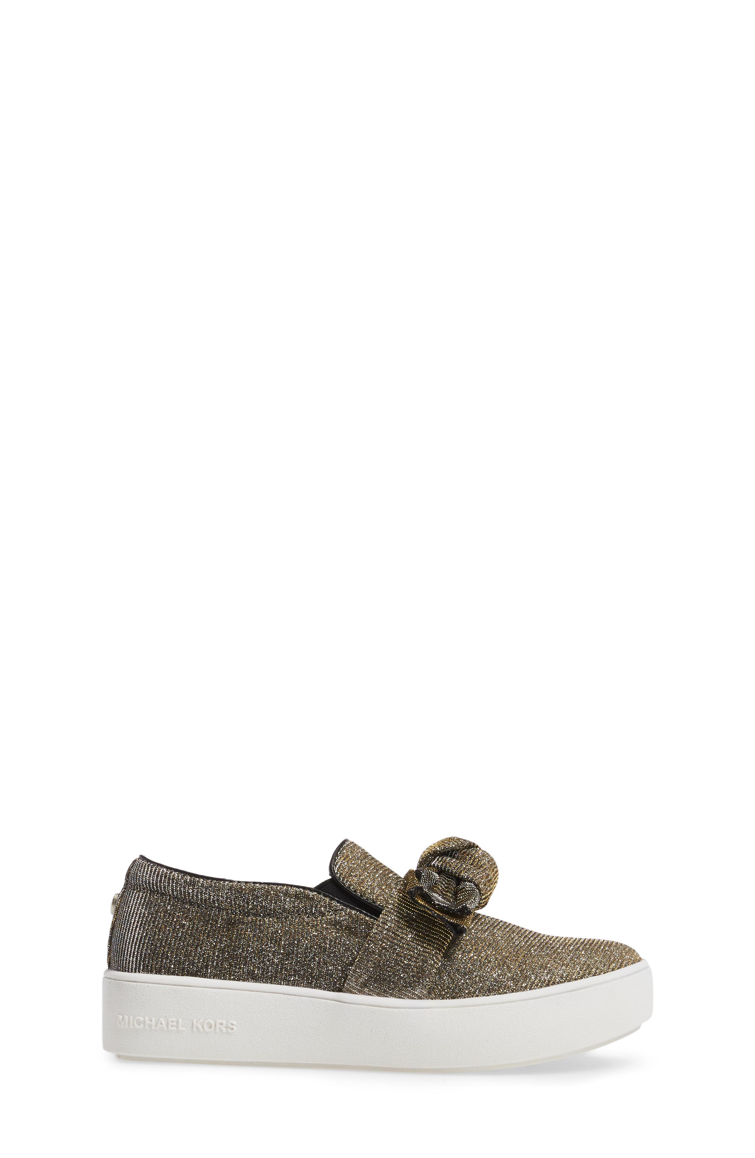 Alternate Image 3  - MICHAEL Michael Kors Maven Poppy Knotted Slip-On Sneaker (Walker, Toddler, Little Kid & Big Kid)