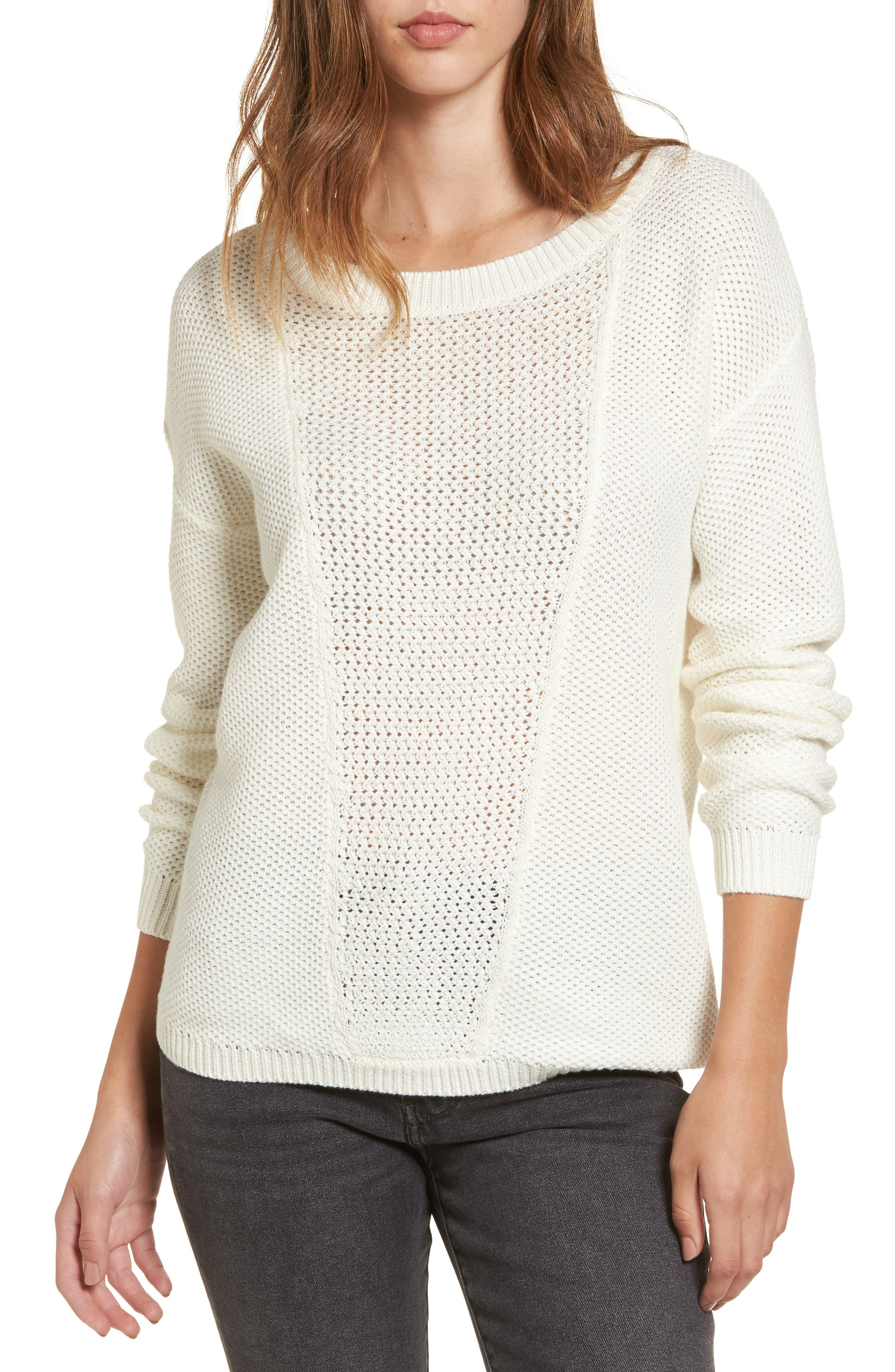 Deserve Good Things Sweater,                         Main,                         color, Marshmellow