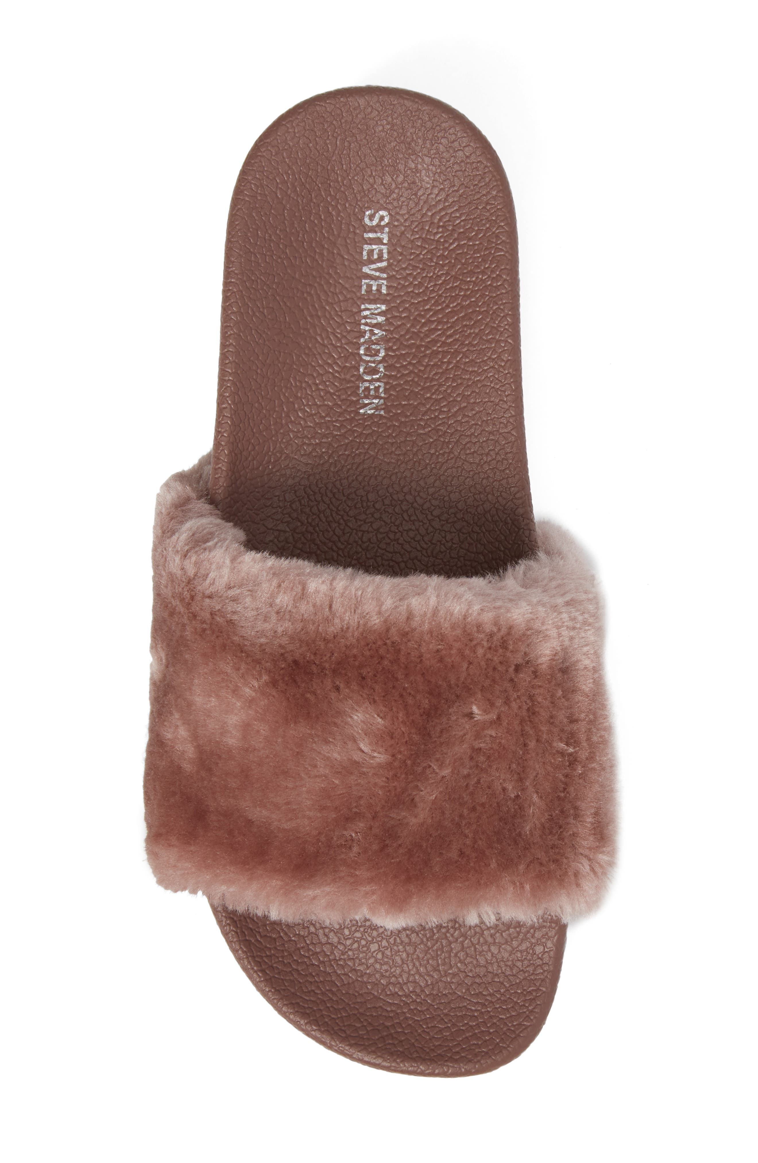 Alternate Image 5  - Steve Madden Softey Faux Fur Platform Slide (Women)