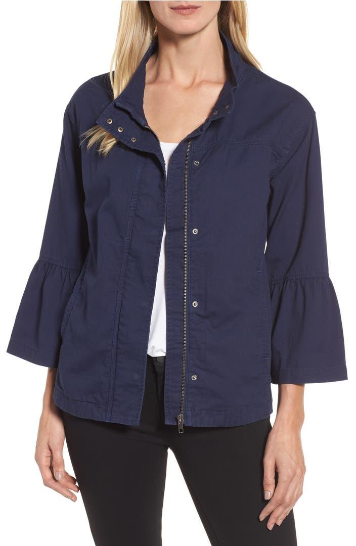 Utility Jacket Jackets And Nike: Caslon® Flare Sleeve Utility Jacket (Regular & Petite