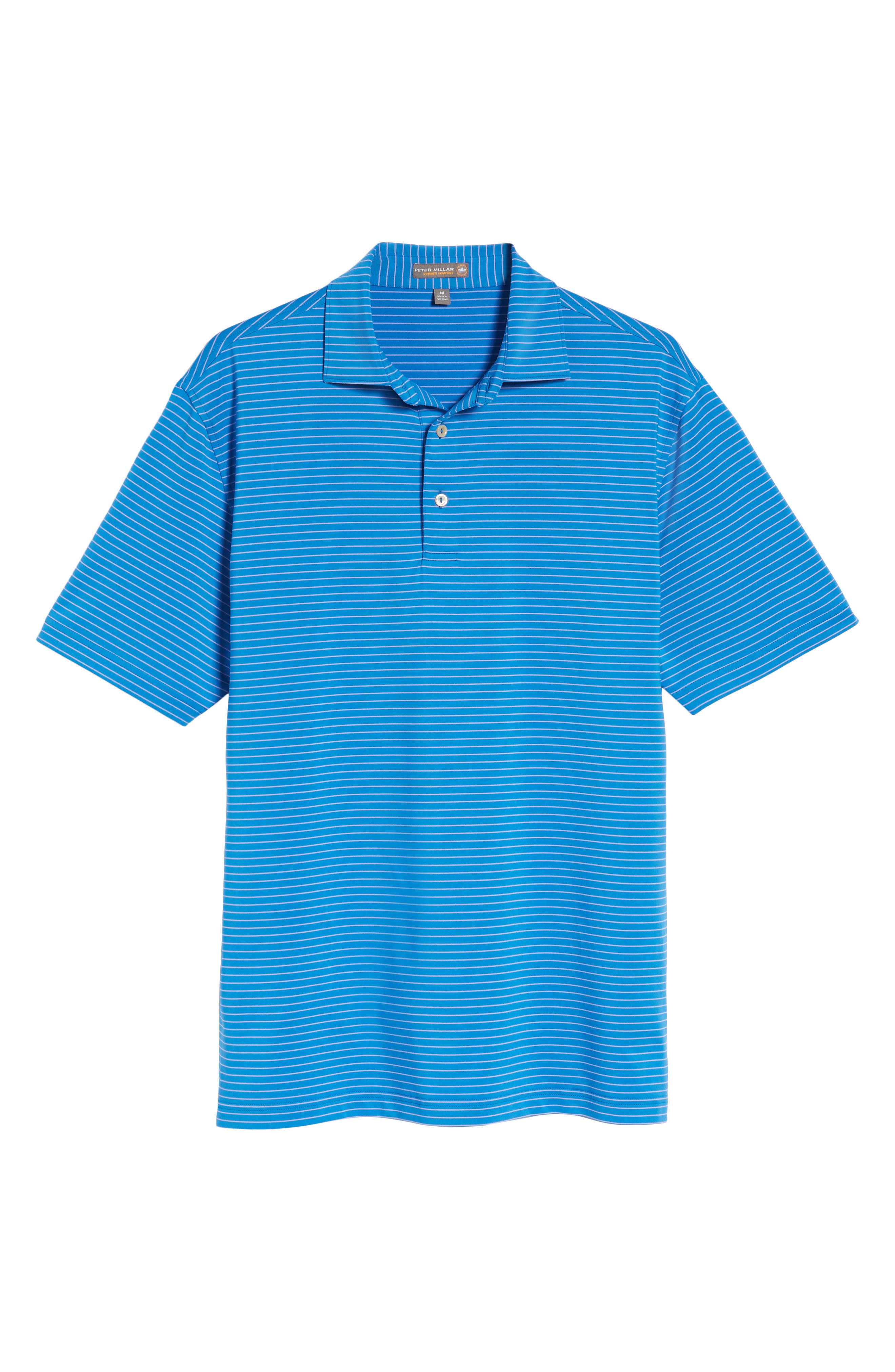 Stripe Polo,                             Alternate thumbnail 6, color,                             Parisian Blue