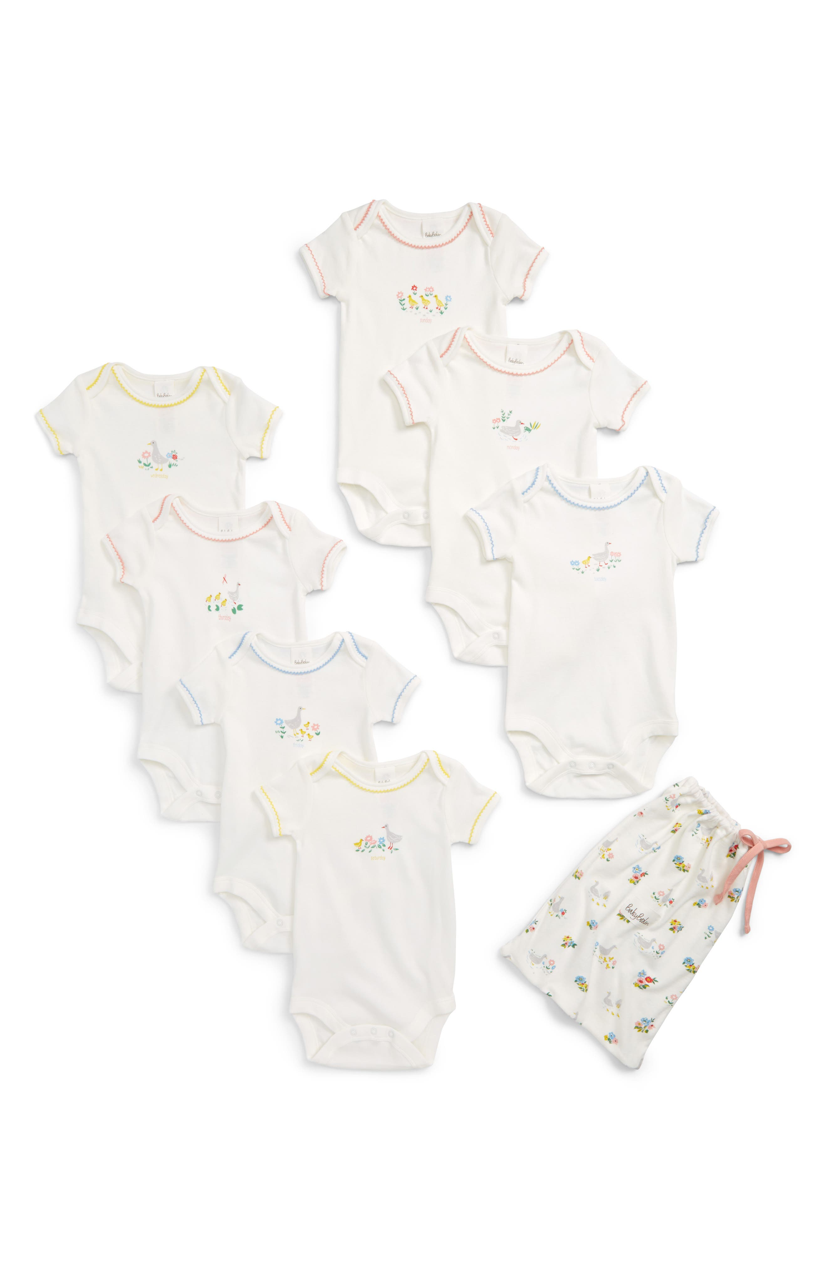 Mini Boden River Ducks Set of 7 Bodysuits (Baby)