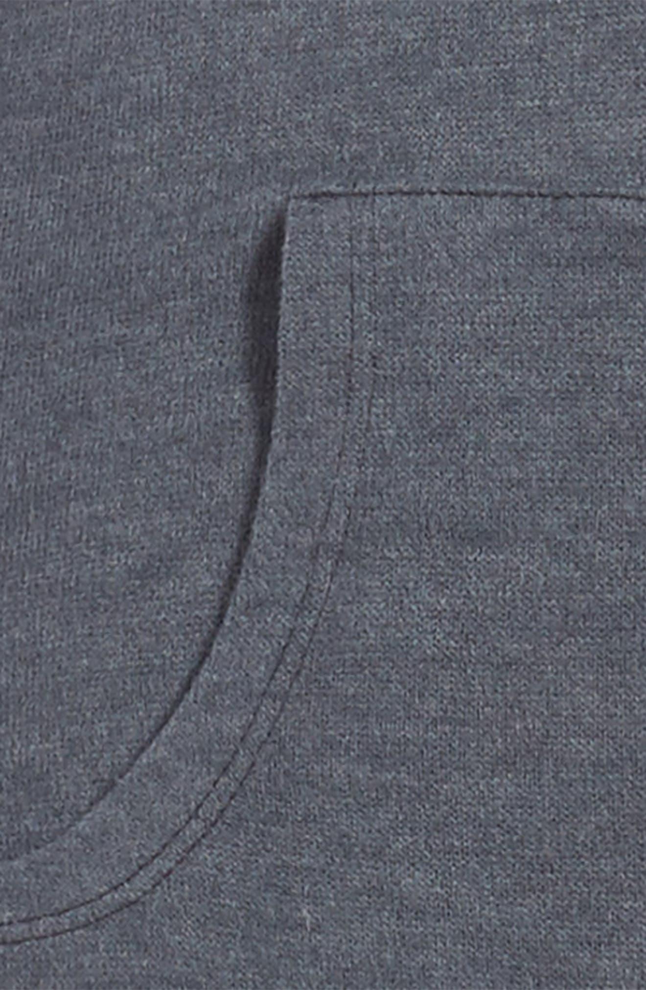 Sweatshirt Dress,                             Alternate thumbnail 3, color,                             Grey