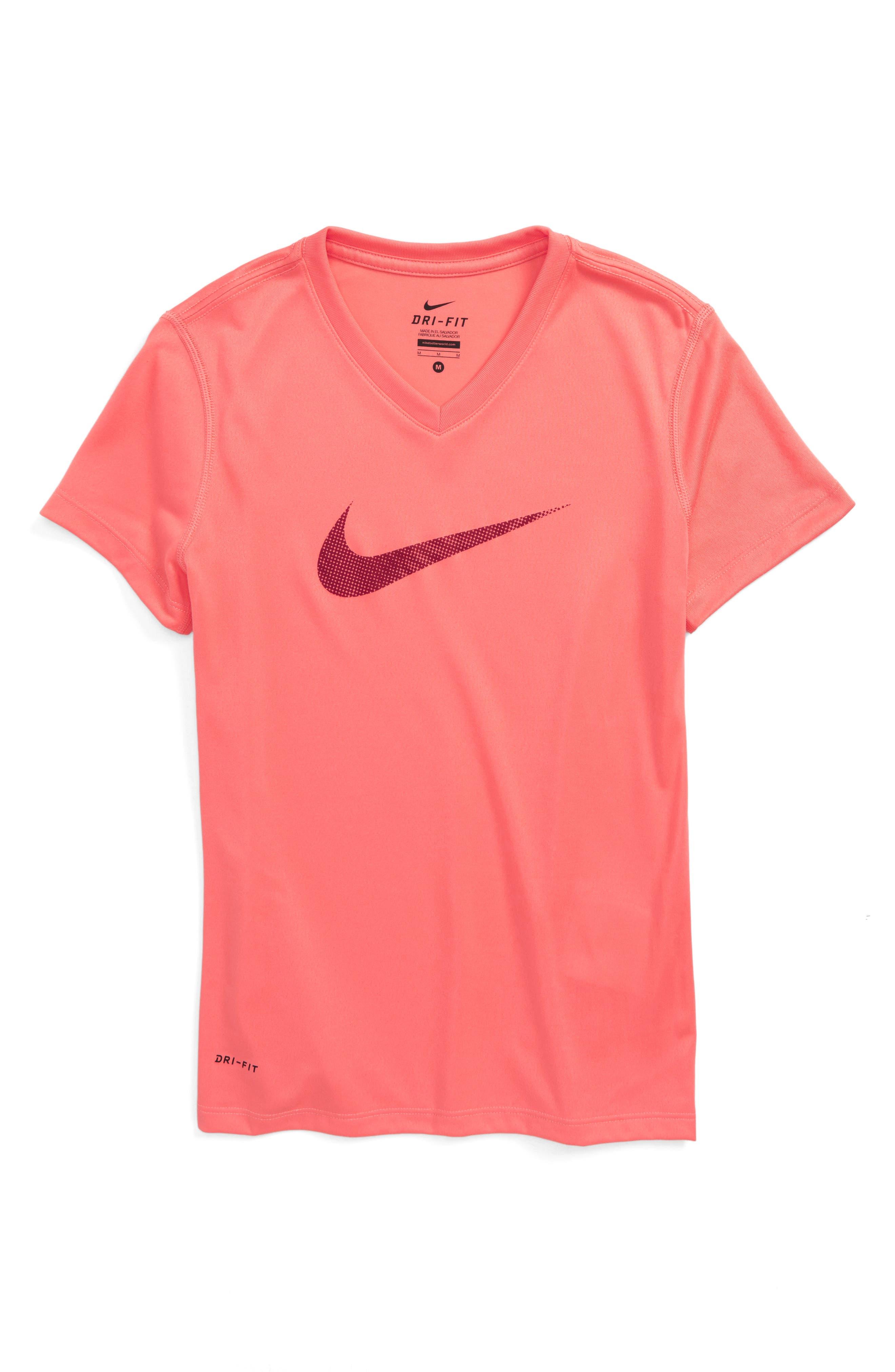Nike Swoosh Graphic Dri-FIT Tee (Big Girls)